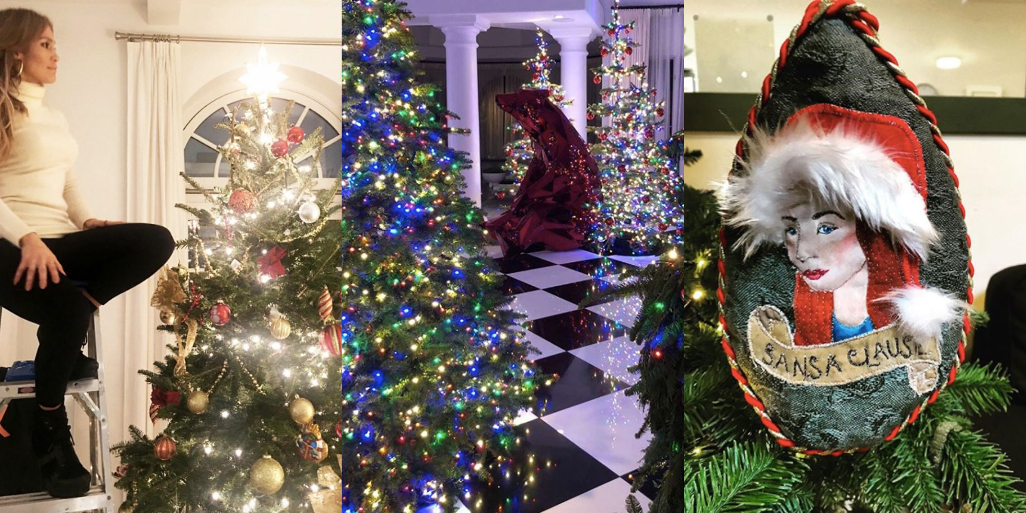 Celebrity Holiday Decorations - How Stars Decorate Homes and ...