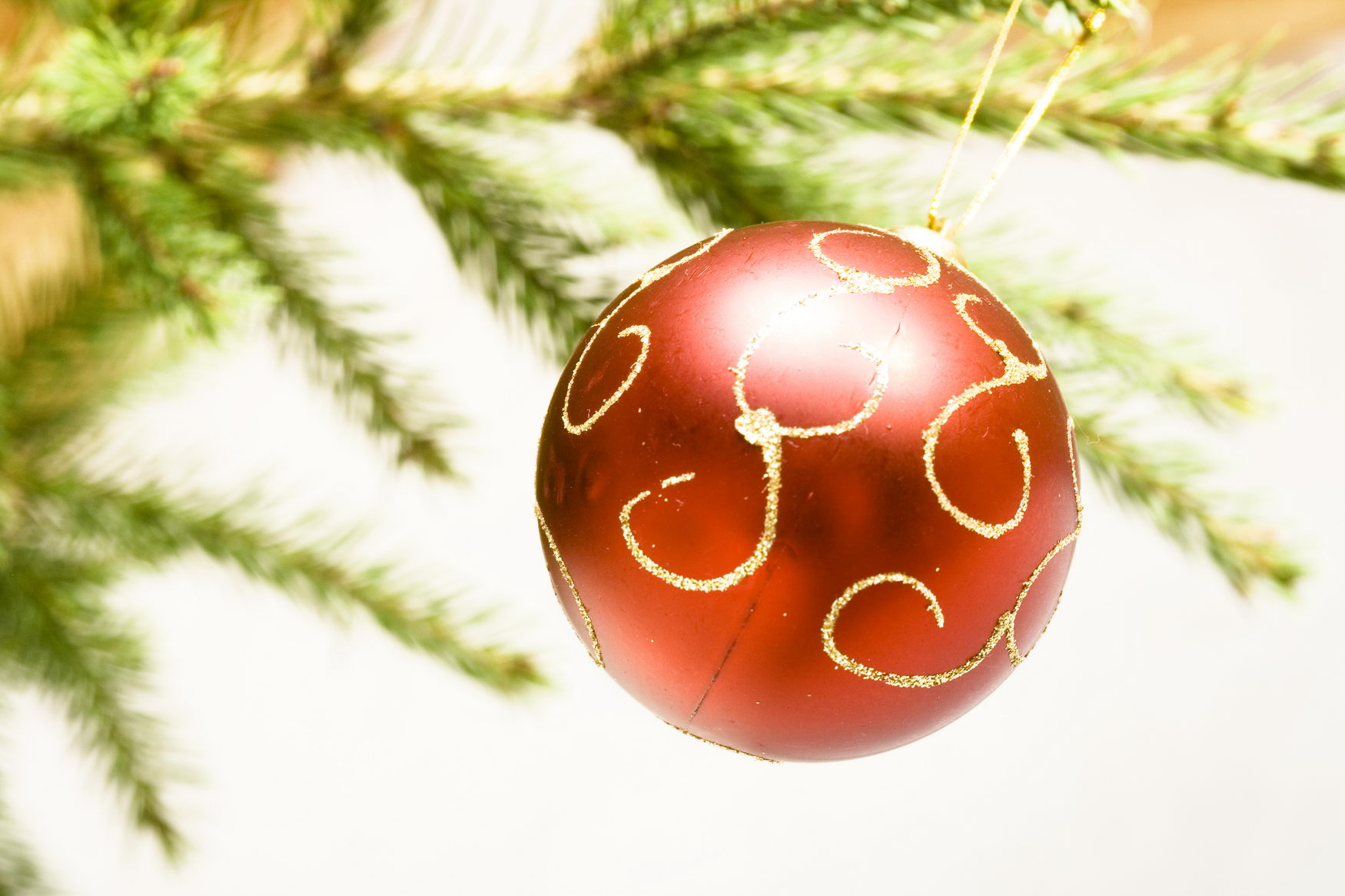 Christmas decoration, Ball, Holiday, Winter, White, HQ Photo
