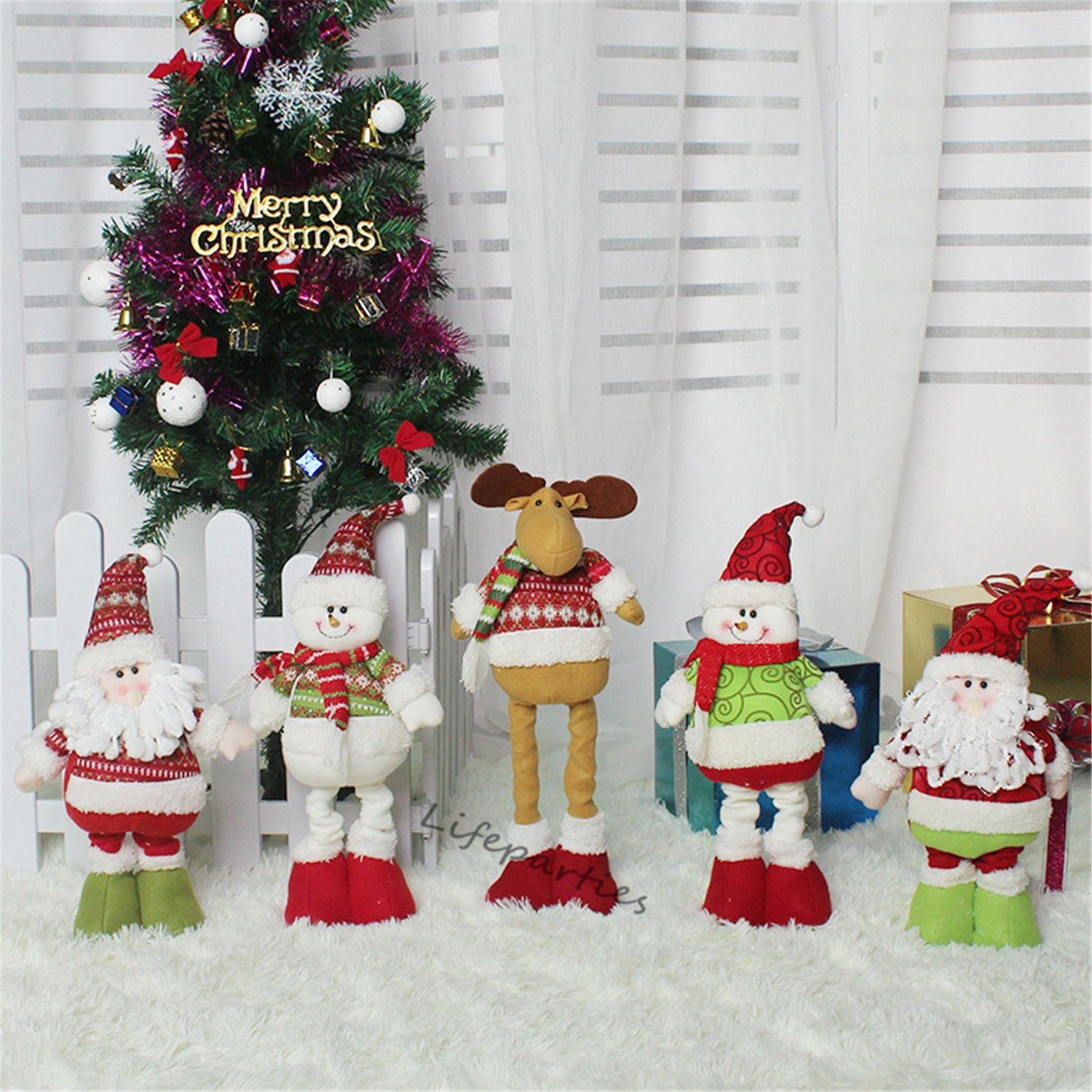 Christmas Decorations Old Man Dolls Telescopic Accessories Christmas ...