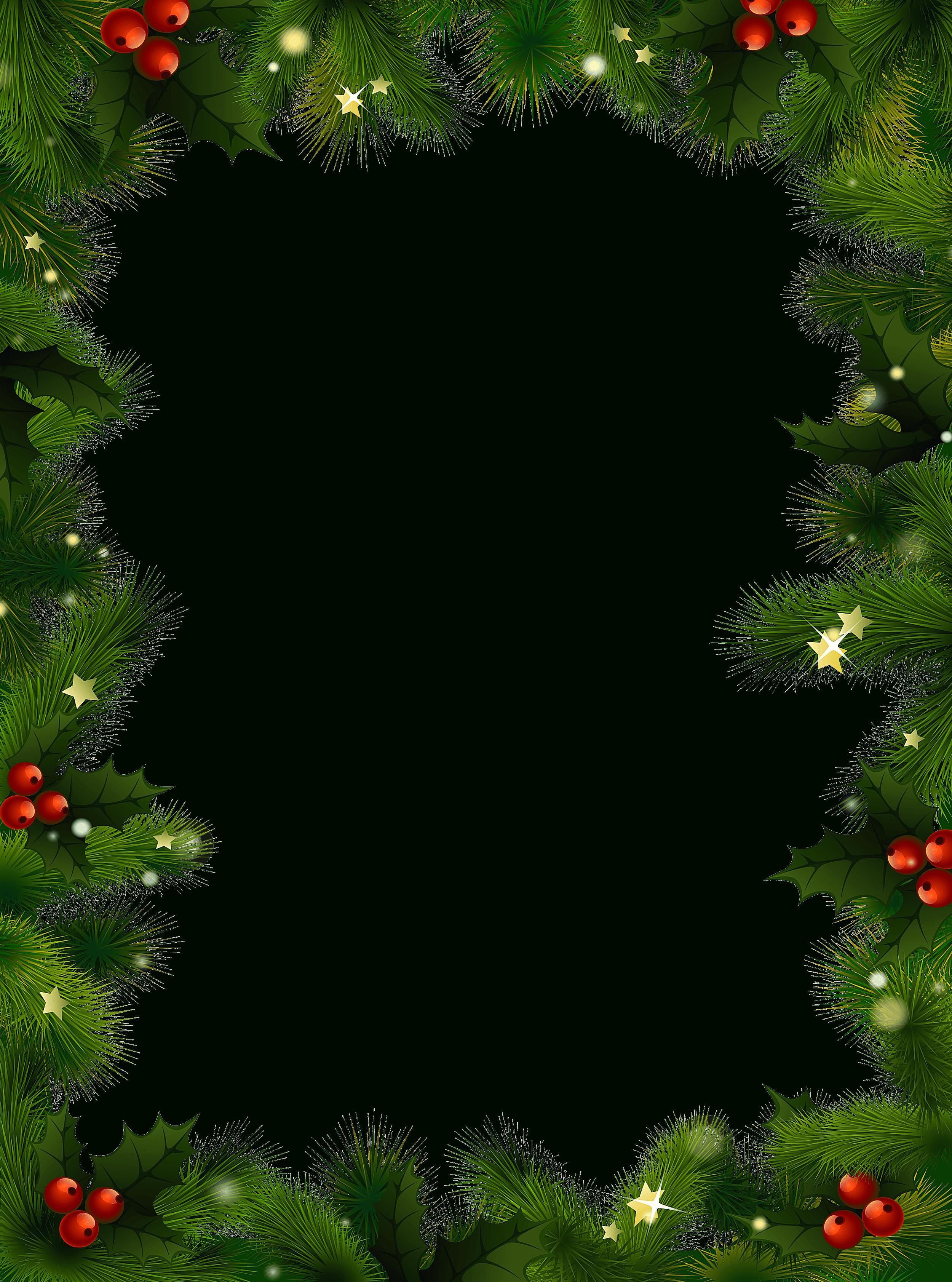 487 Free Christmas Borders And Frames regarding Christmas Frame Png ...