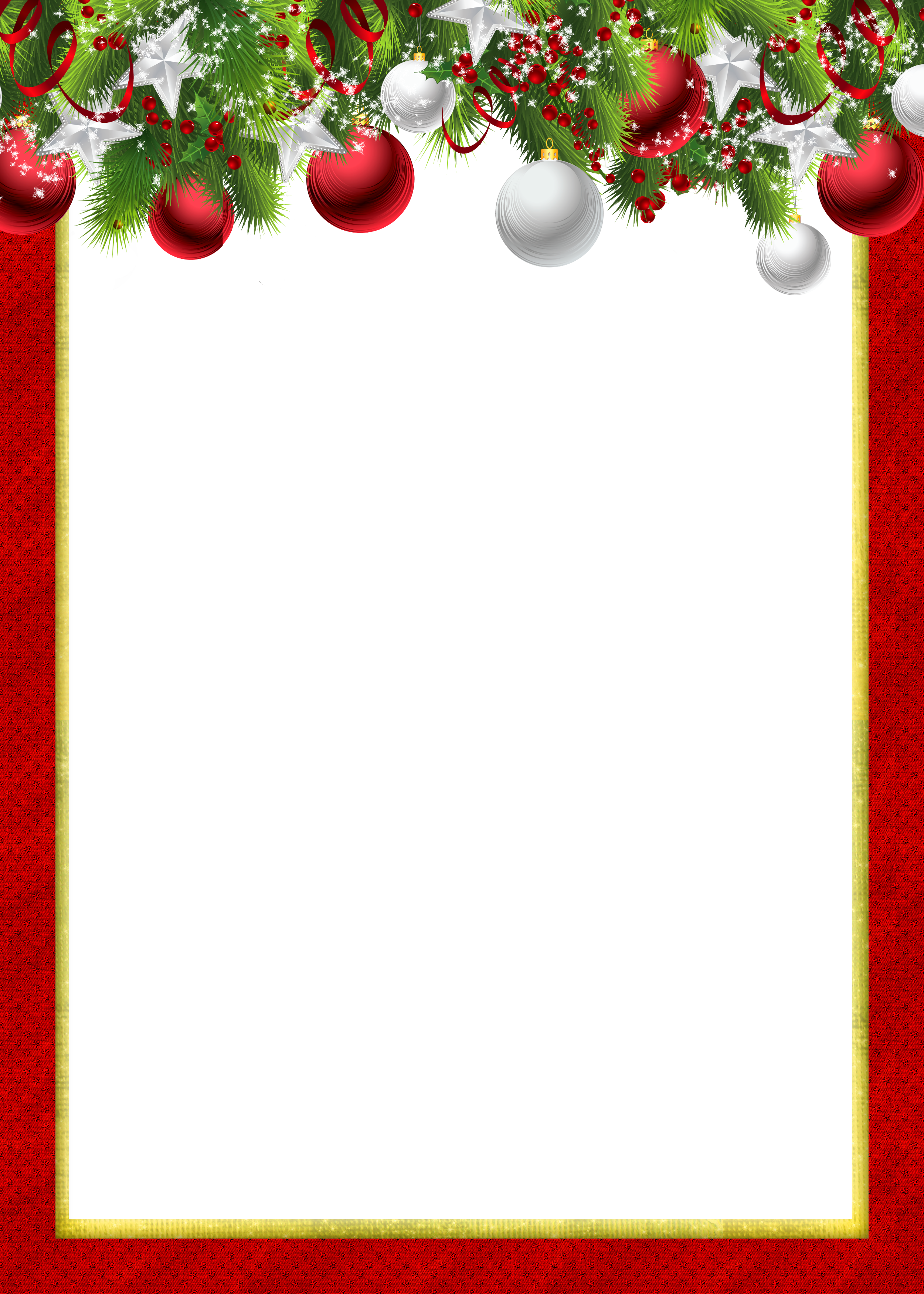 Red Transparent PNG Christmas Photo Frame with Christmas Balls ...