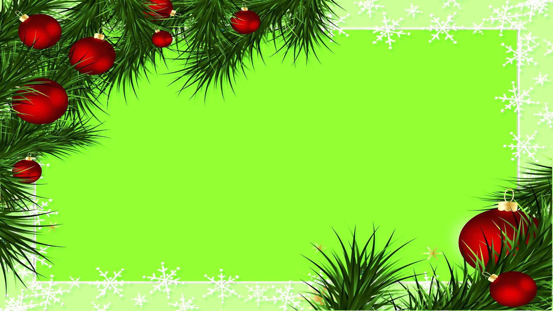 Christmas Border Green Screen - YouTube