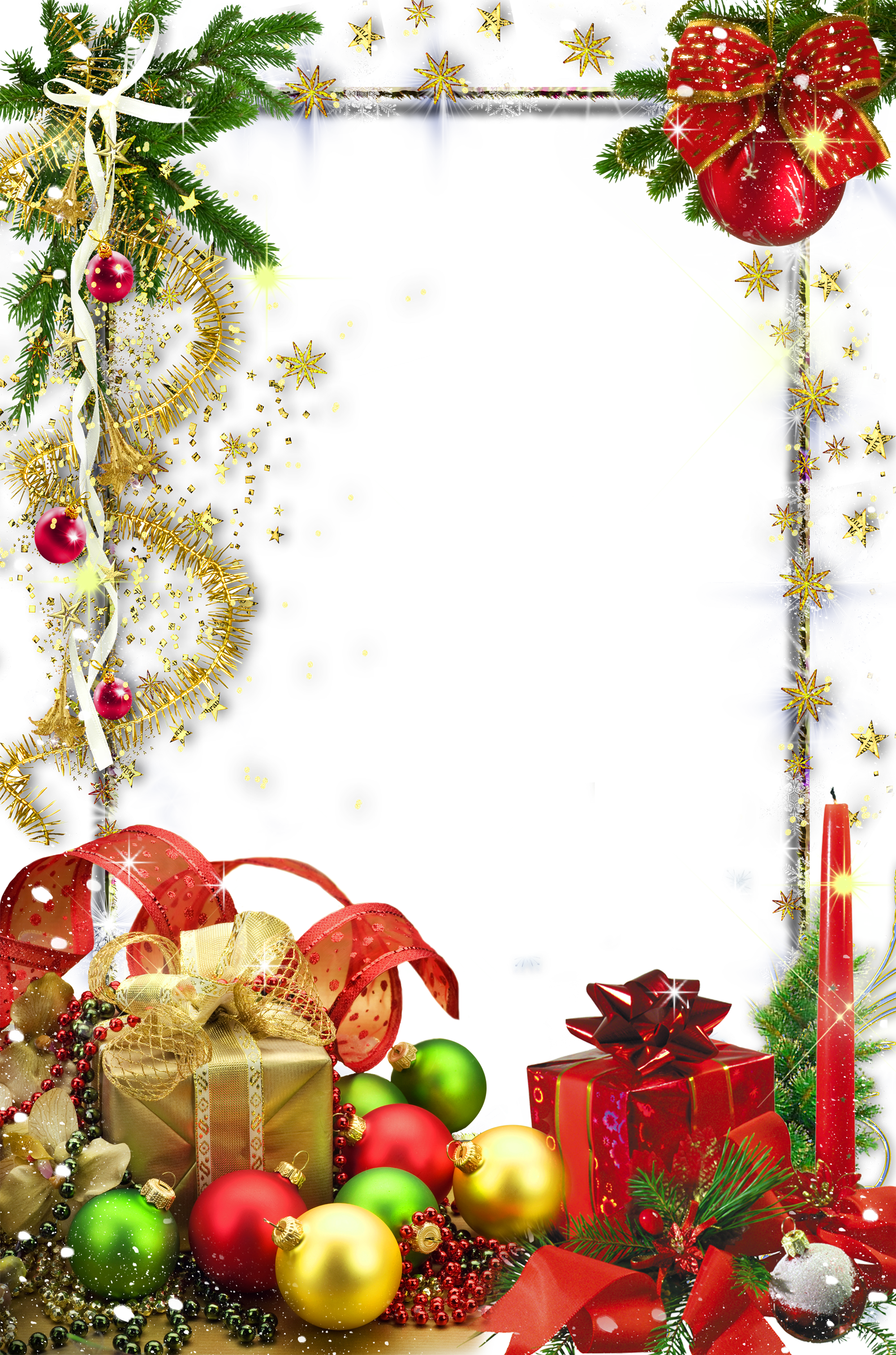 Transparent Christmas Holiday Photo Frame   Christmas❆ClipArt, PNG ...