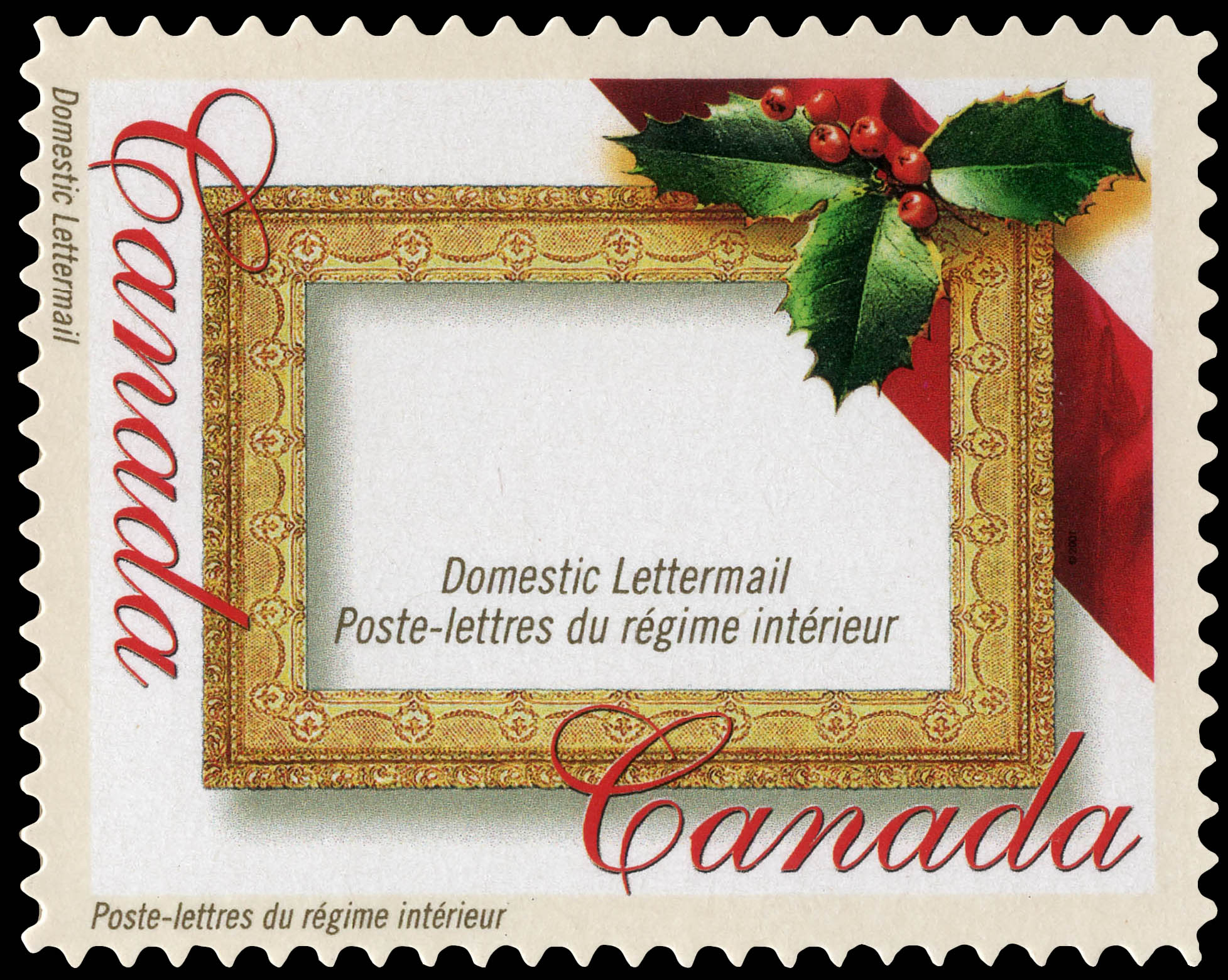 Christmas Frame - Canada Postage Stamp | Greeting Stamps