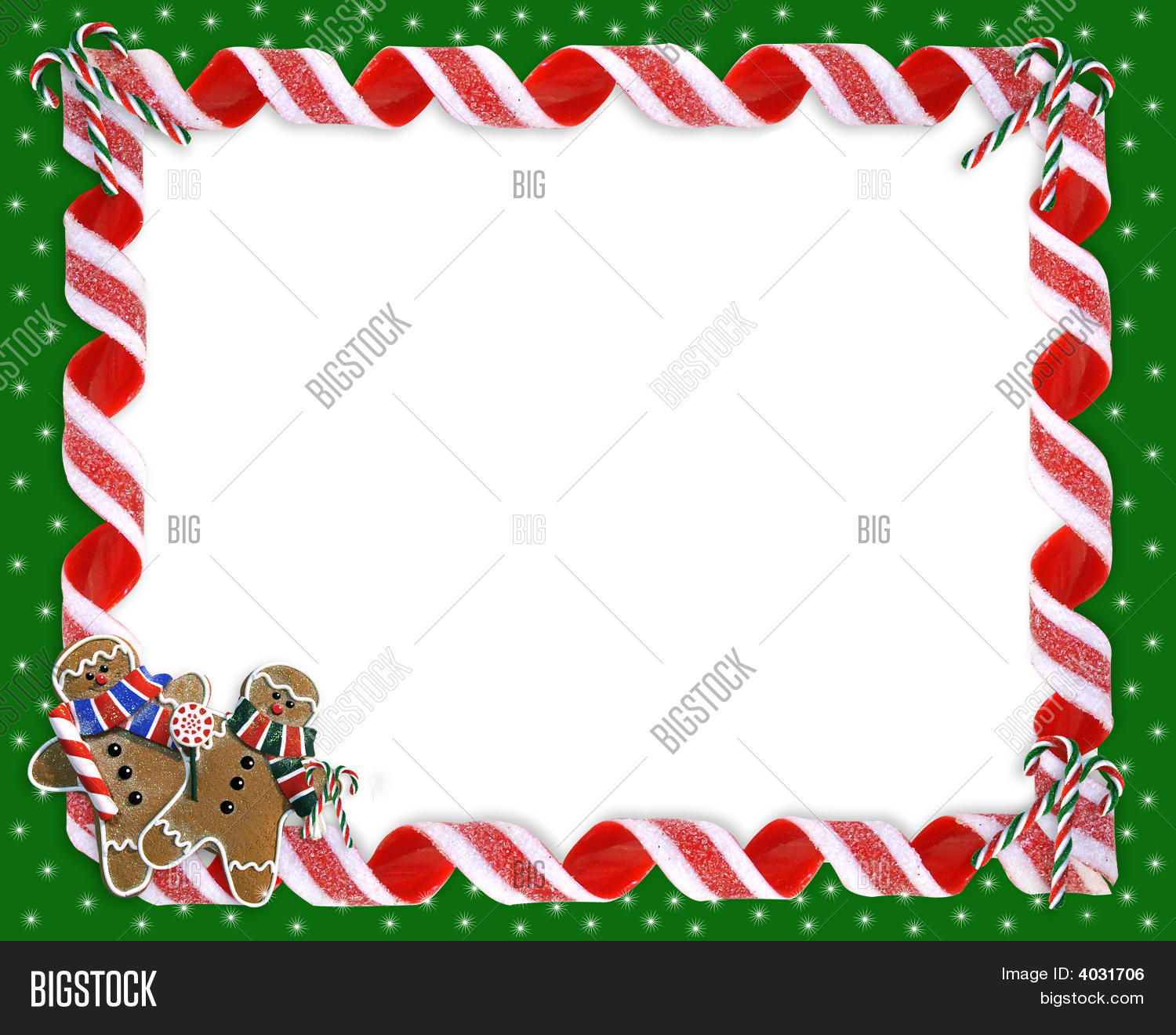 Christmas Frame Candy Ribbons Image & Photo | Bigstock