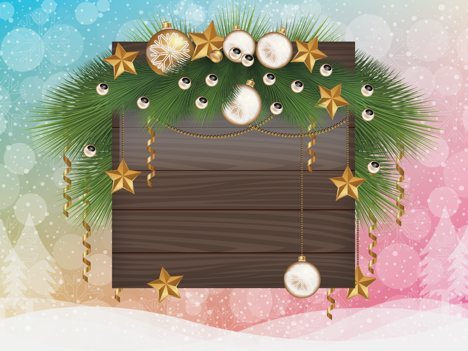 Christmas Frame Backgrounds for Powerpoint Templates - PPT Backgrounds