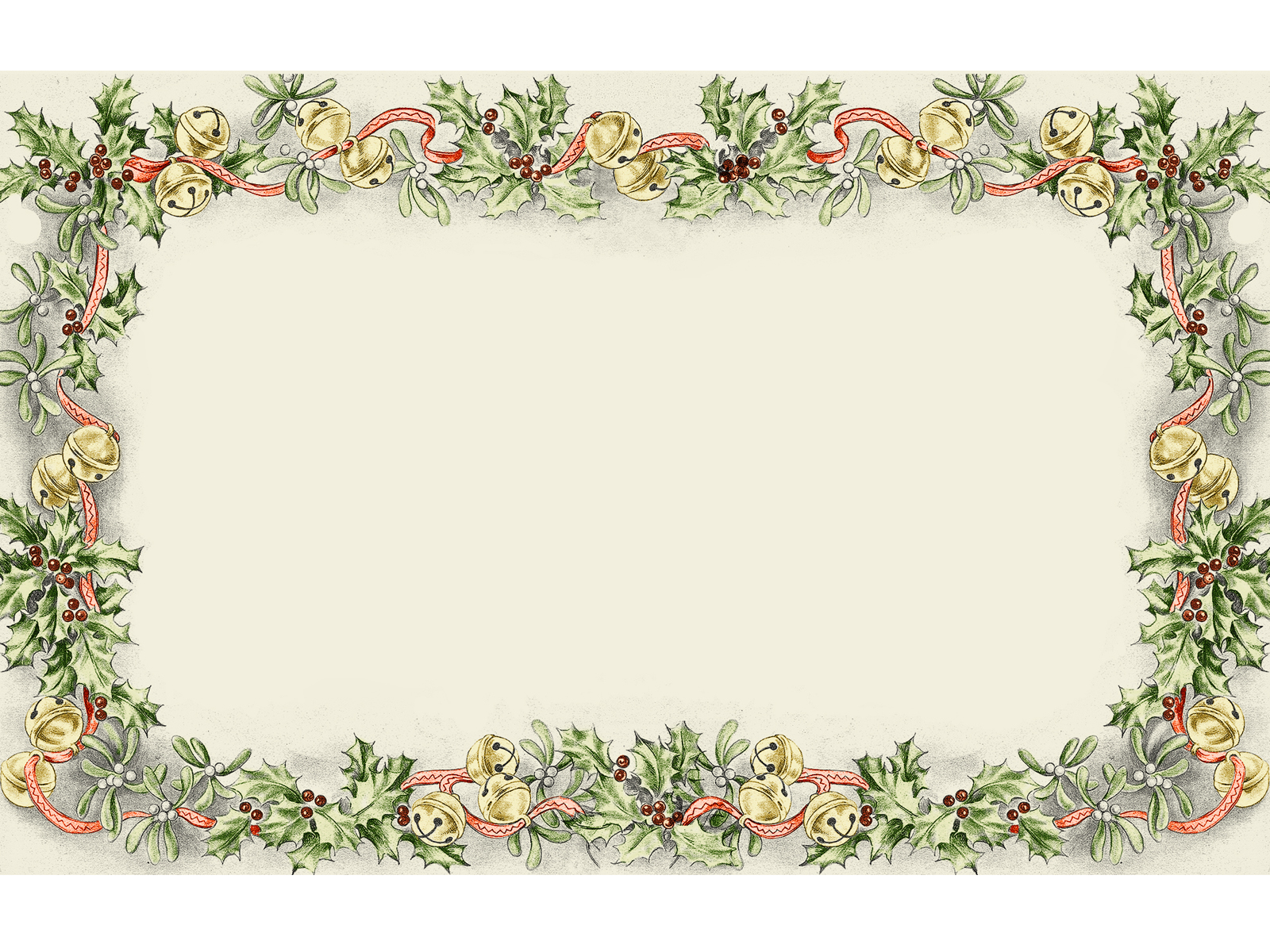 Flower Frame Christmas Powerpoint Templates - Flower Frame Christmas ...