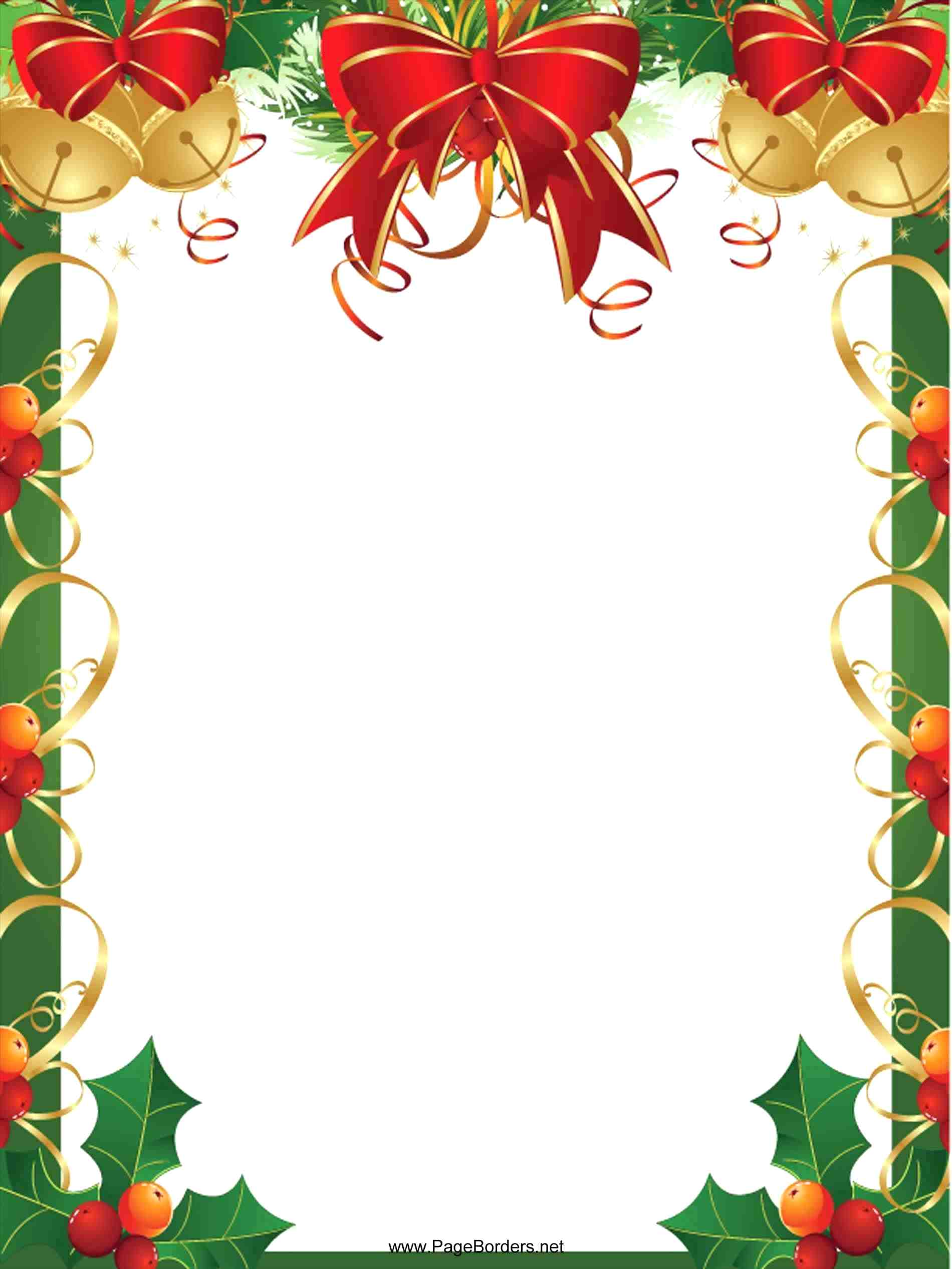 template: Christmas Frame Template With Frames For Pictures Ornament ...