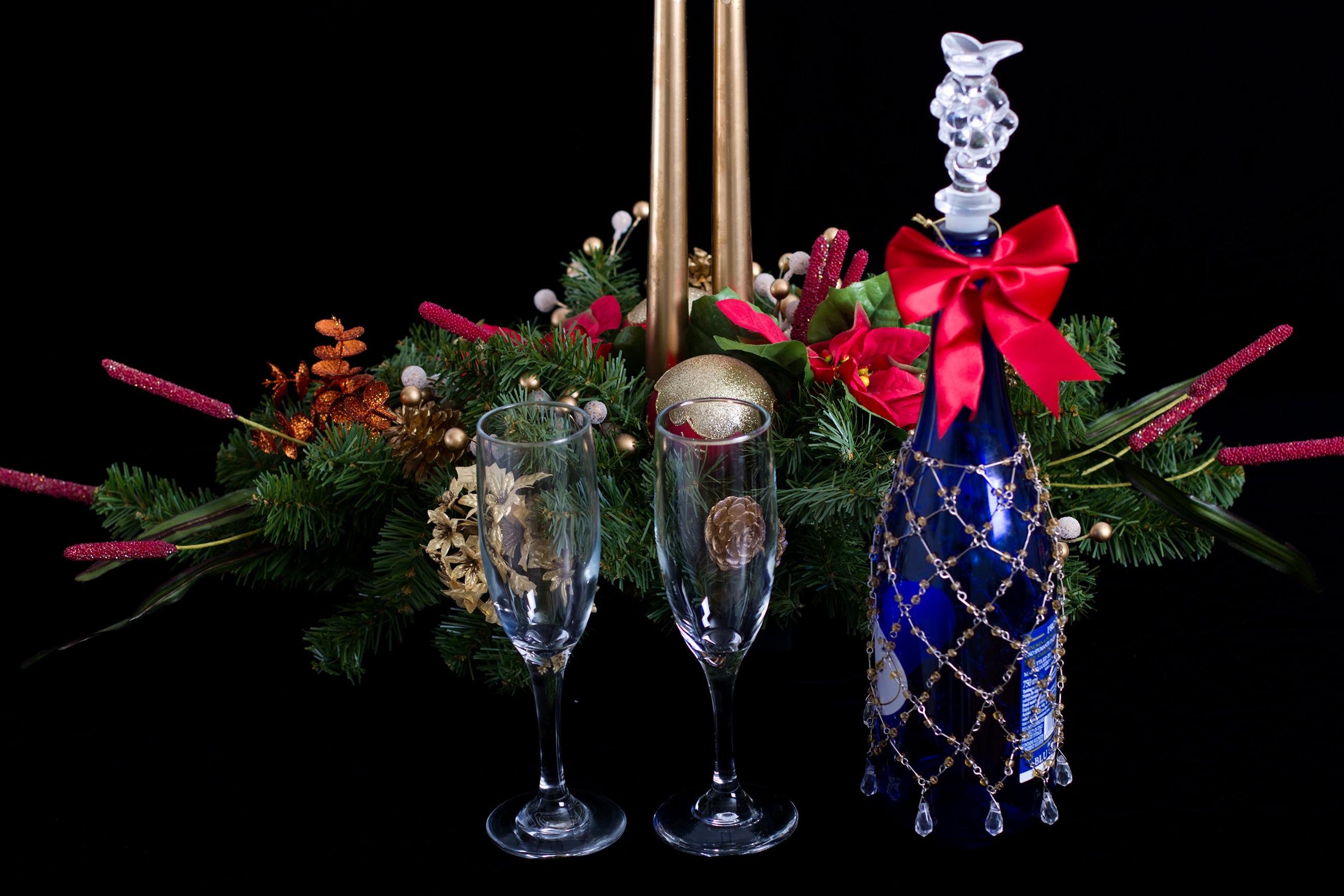 Christmas Holiday, Alcohol, Imagery, Wineglass, Wine, HQ Photo