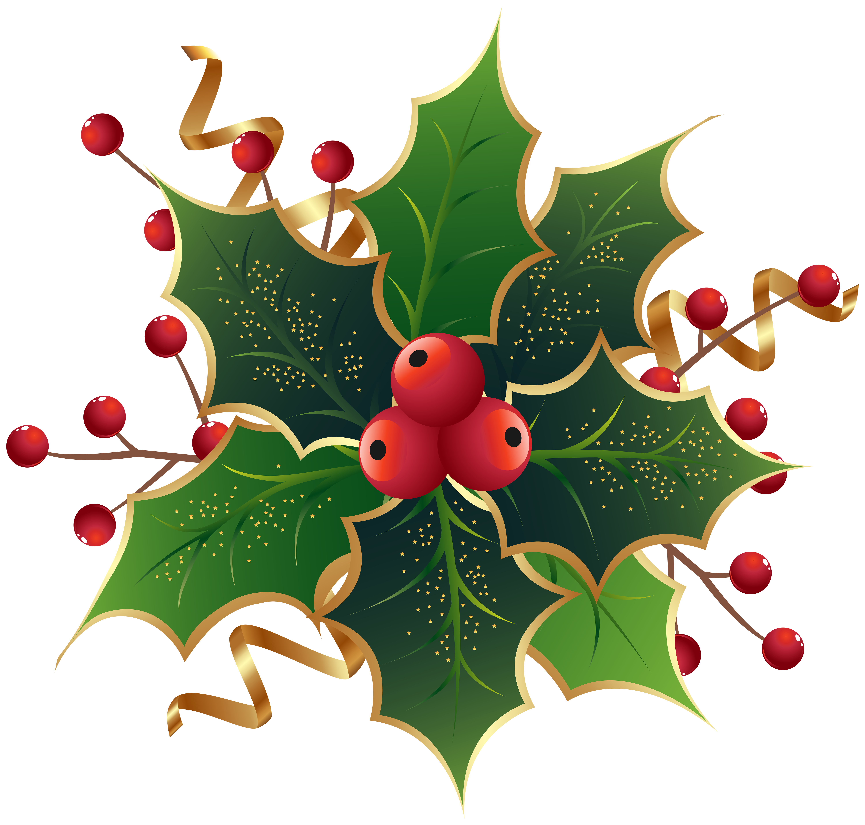 Christmas Holly Mistletoe PNG Clip Art Image | Gallery Yopriceville ...