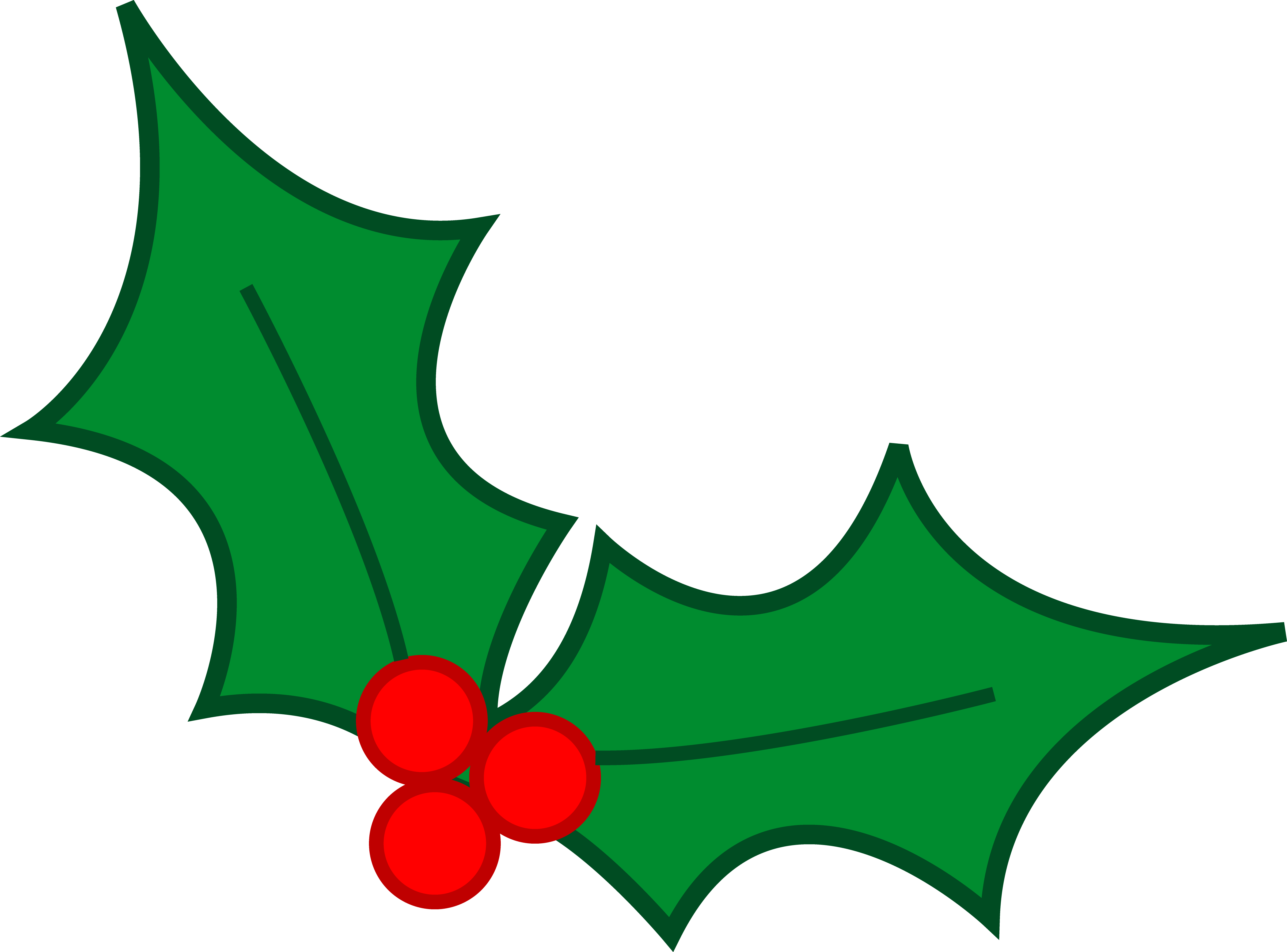 Clipart Christmas Holly | Clipart Panda - Free Clipart Images