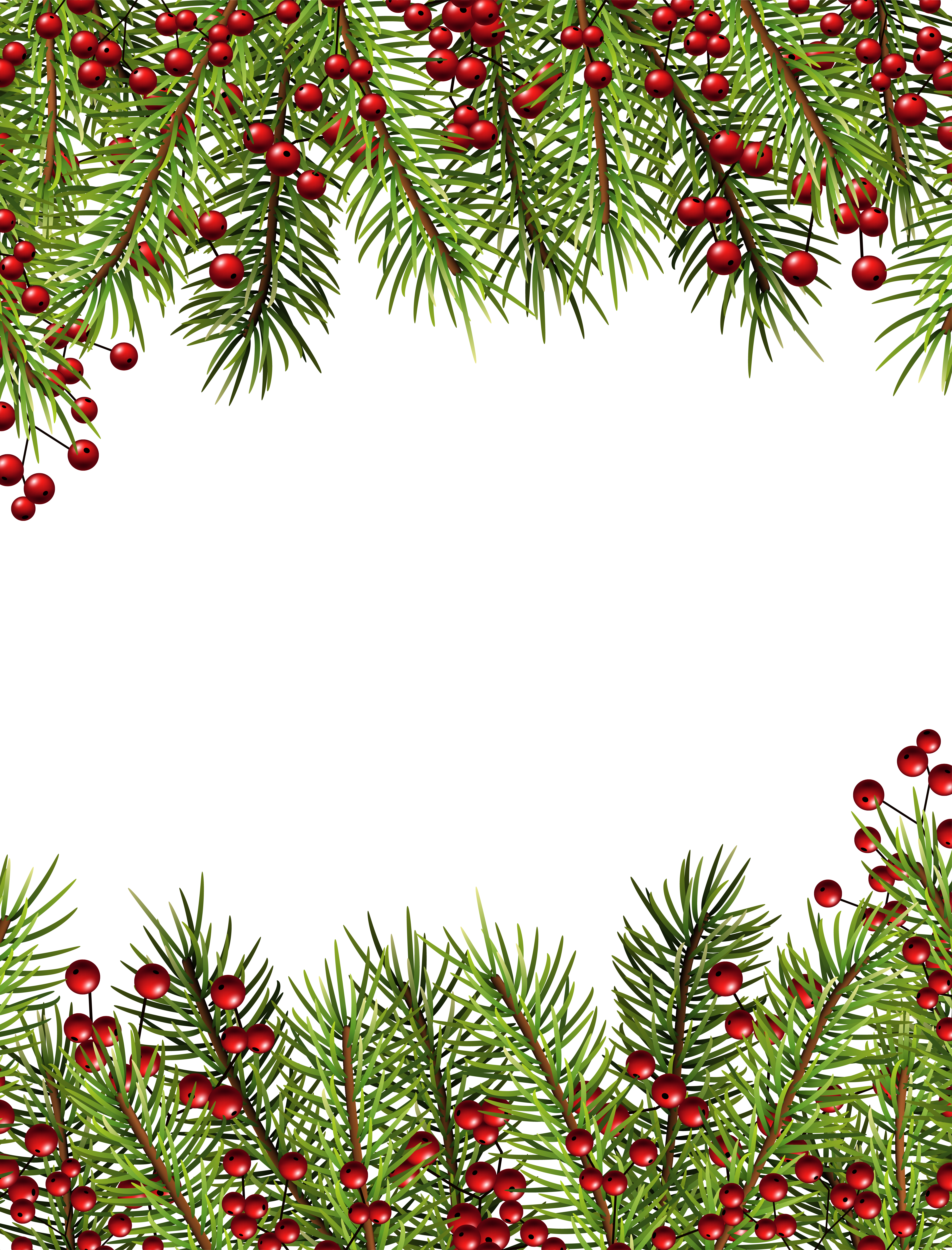 Christmas Holly Transparent Border PNG Frame | Gallery Yopriceville ...