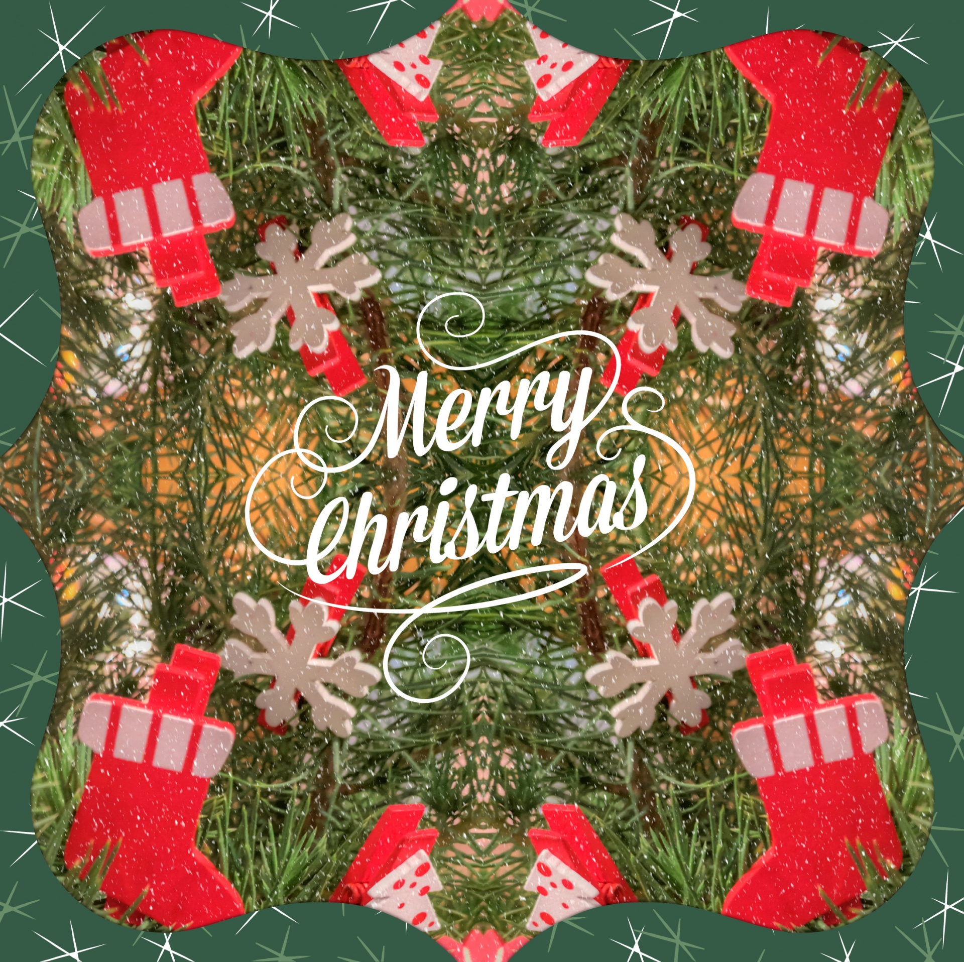 Christmas Kaleidoscope Cutout Free Stock Photo - Public Domain Pictures