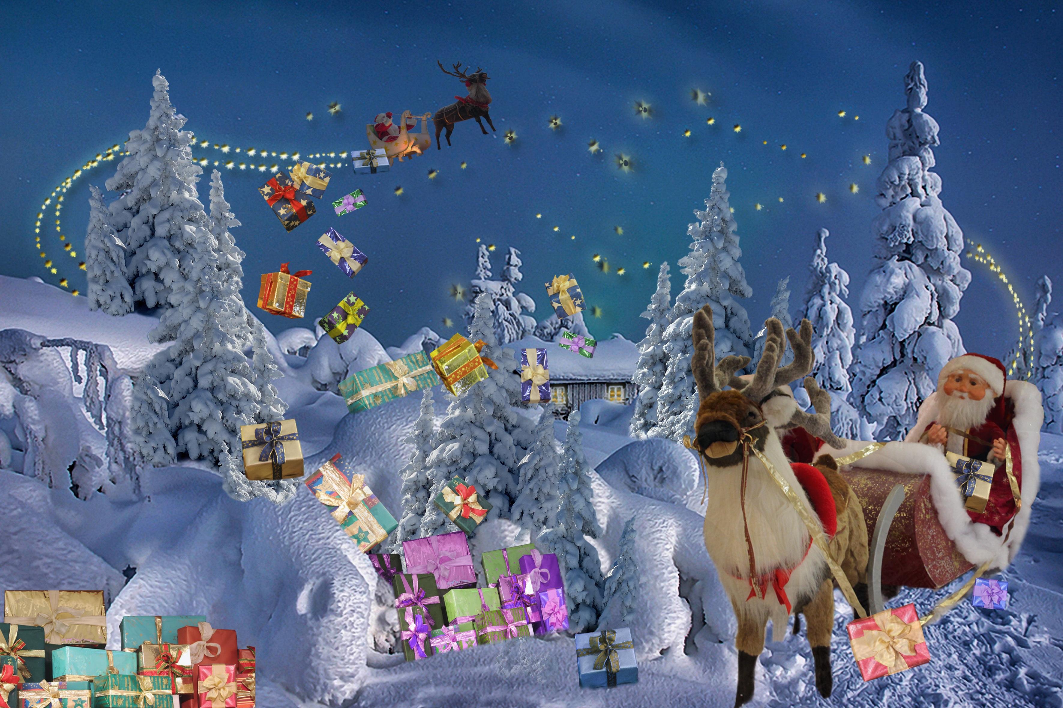 Christmas Season, Christmas, Claus, Frozen, Ice, HQ Photo