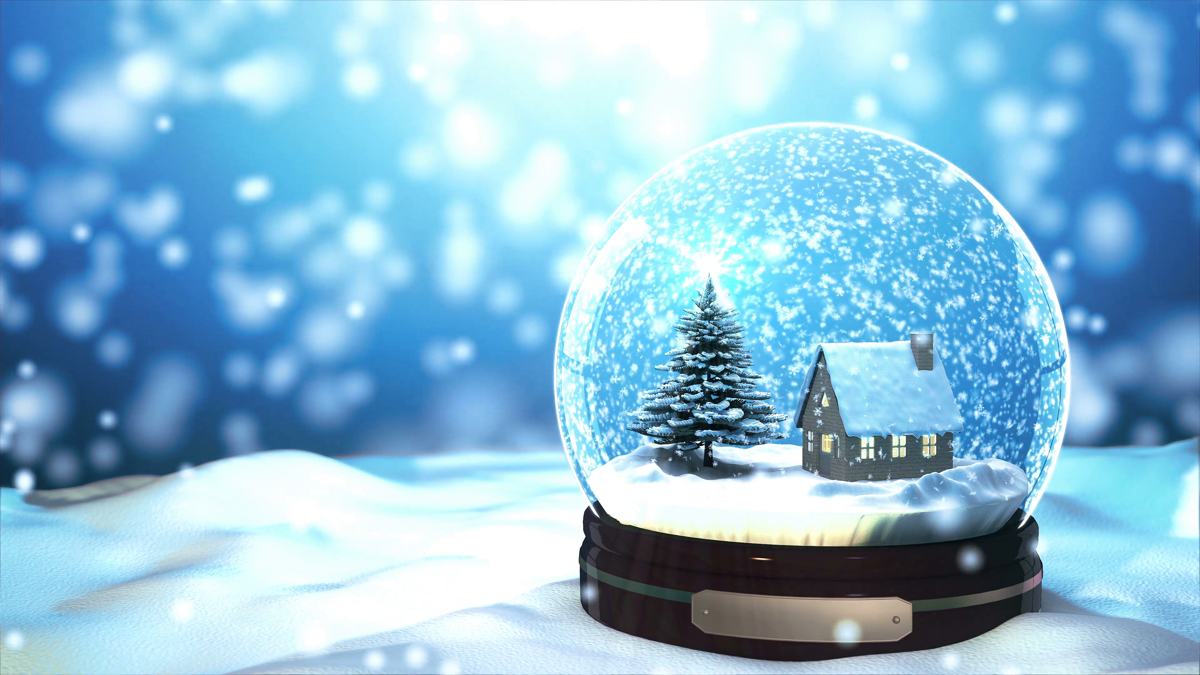 Christmas snow globes photo