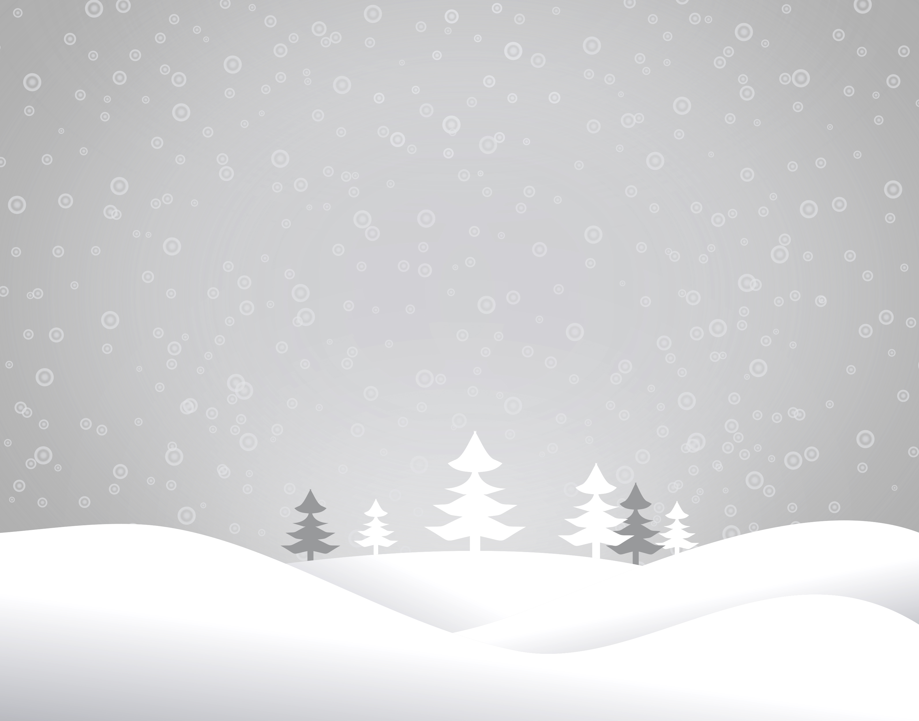 Christmas snowy landscape - xmas postcard with copyspace photo