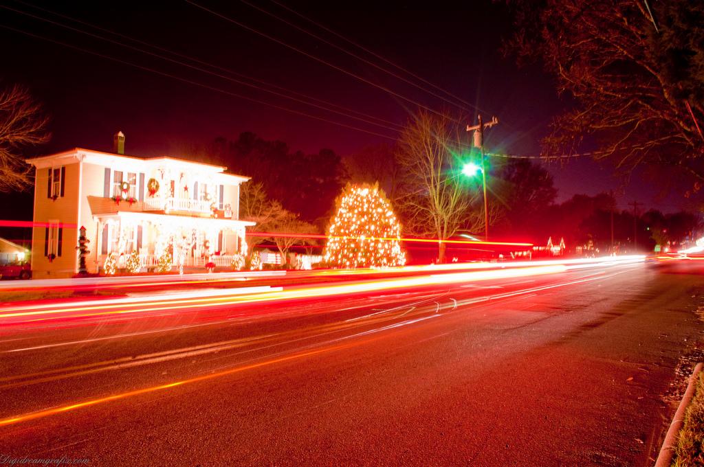 Christmas Town Usa.Free Photo Christmas Town Usa Season Scene Town Free