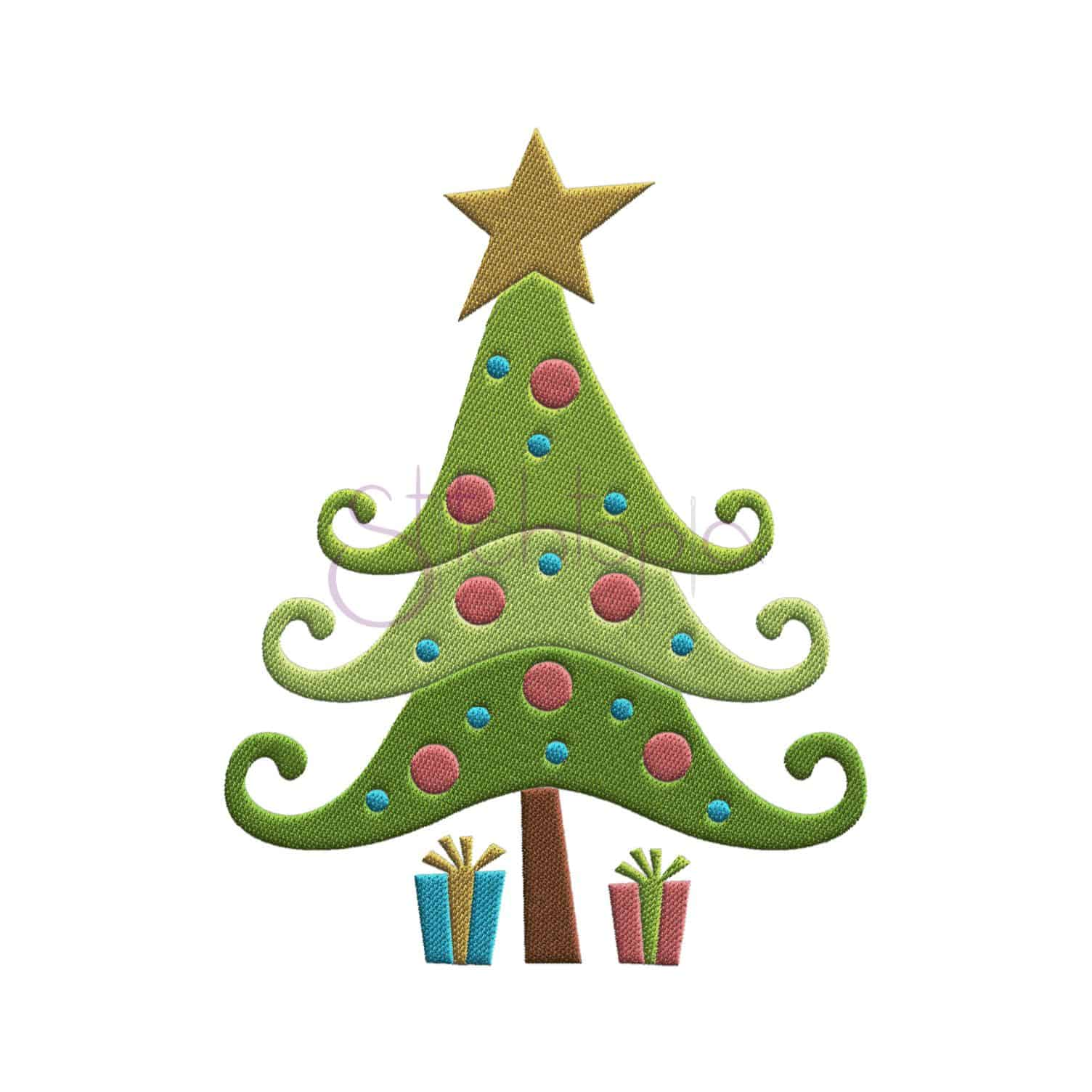 Christmas Tree Embroidery Design - Whimsical | Stitchtopia
