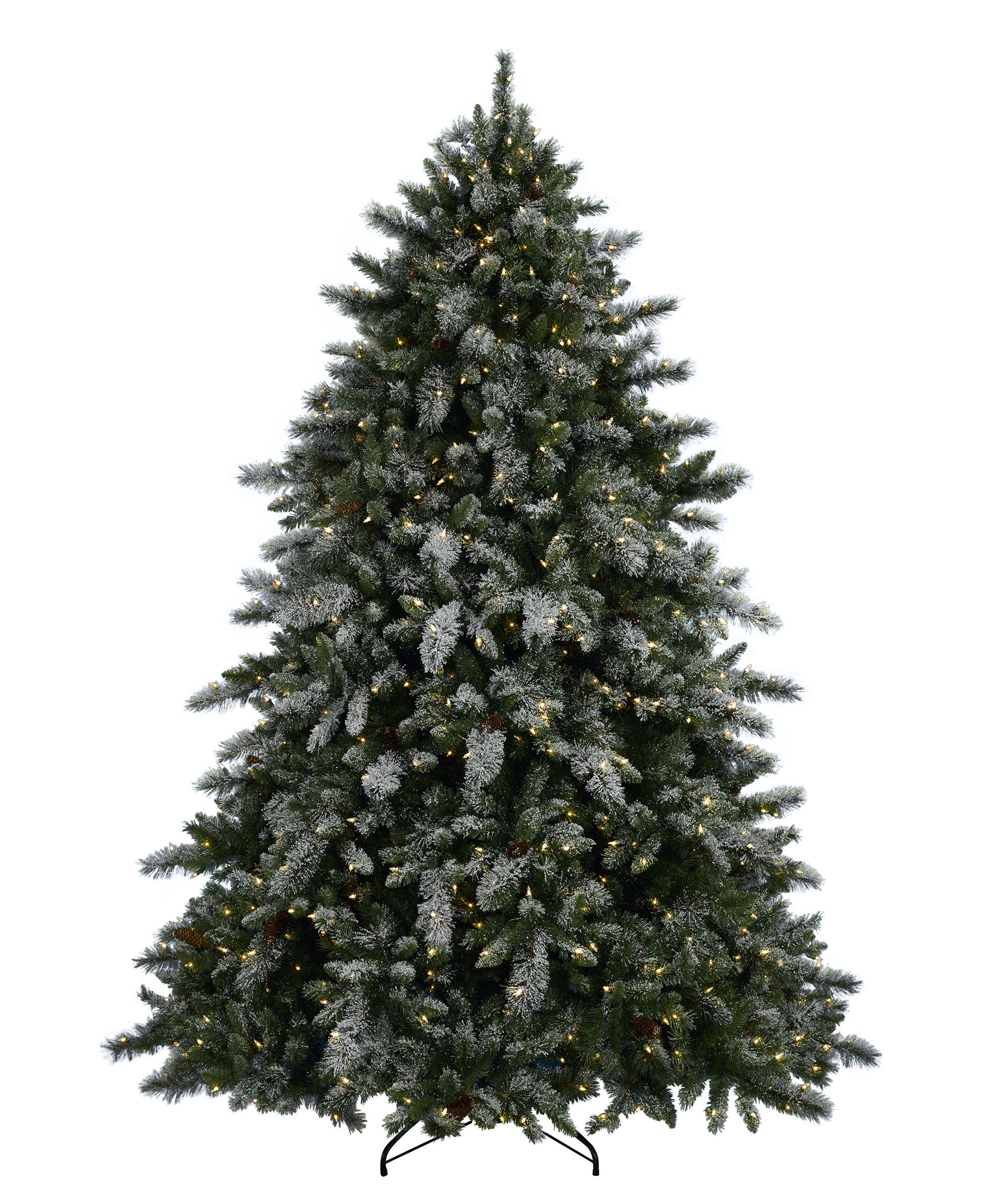 Aspen Spruce Artificial Flocked Christmas Tree | Tree Classics