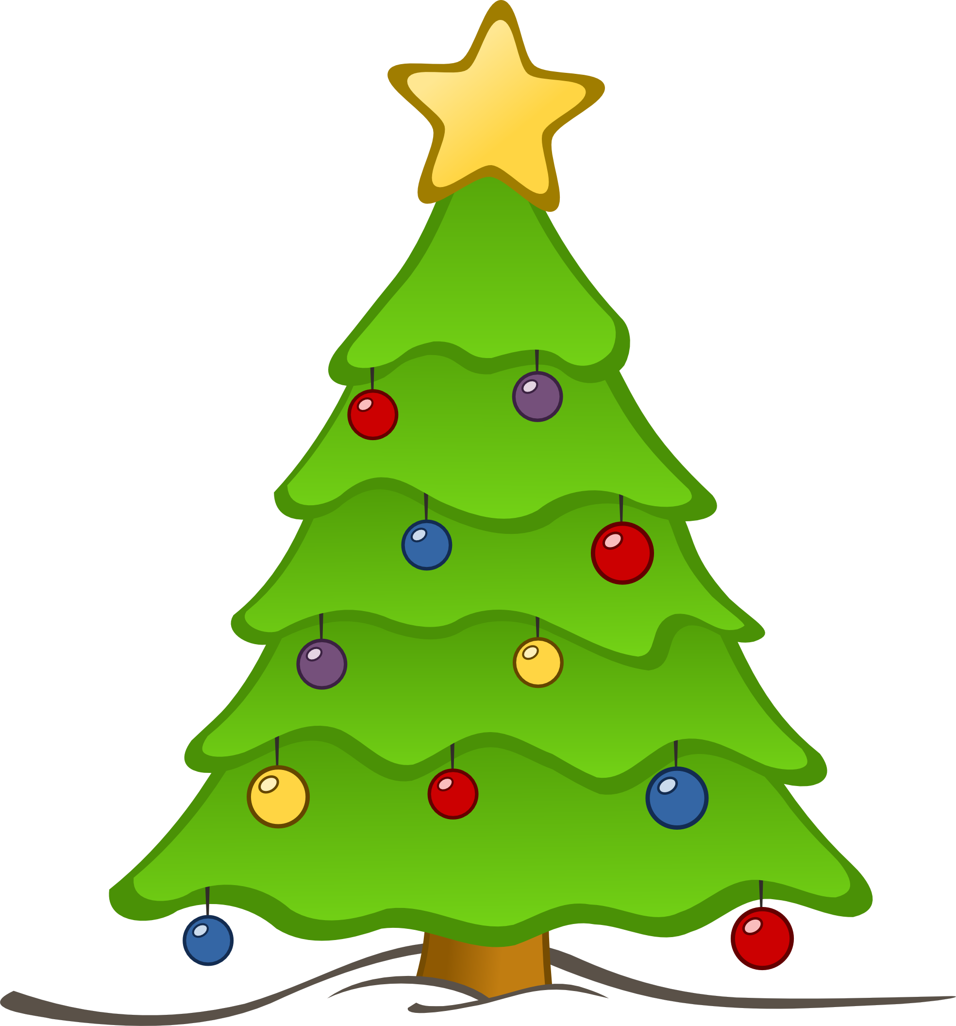 Christmas tree image clipart | Clipart Panda - Free Clipart Images