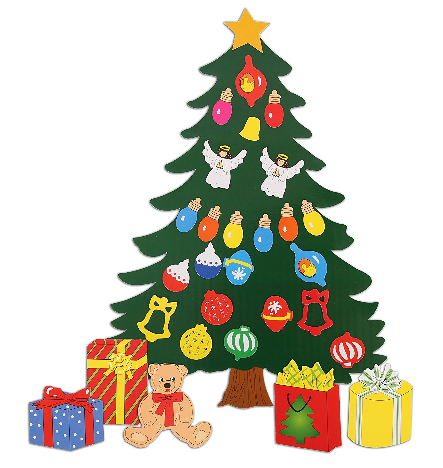 Amazon.com: Christmas Decoration. Animated Tree Magnet Set. Perfect ...