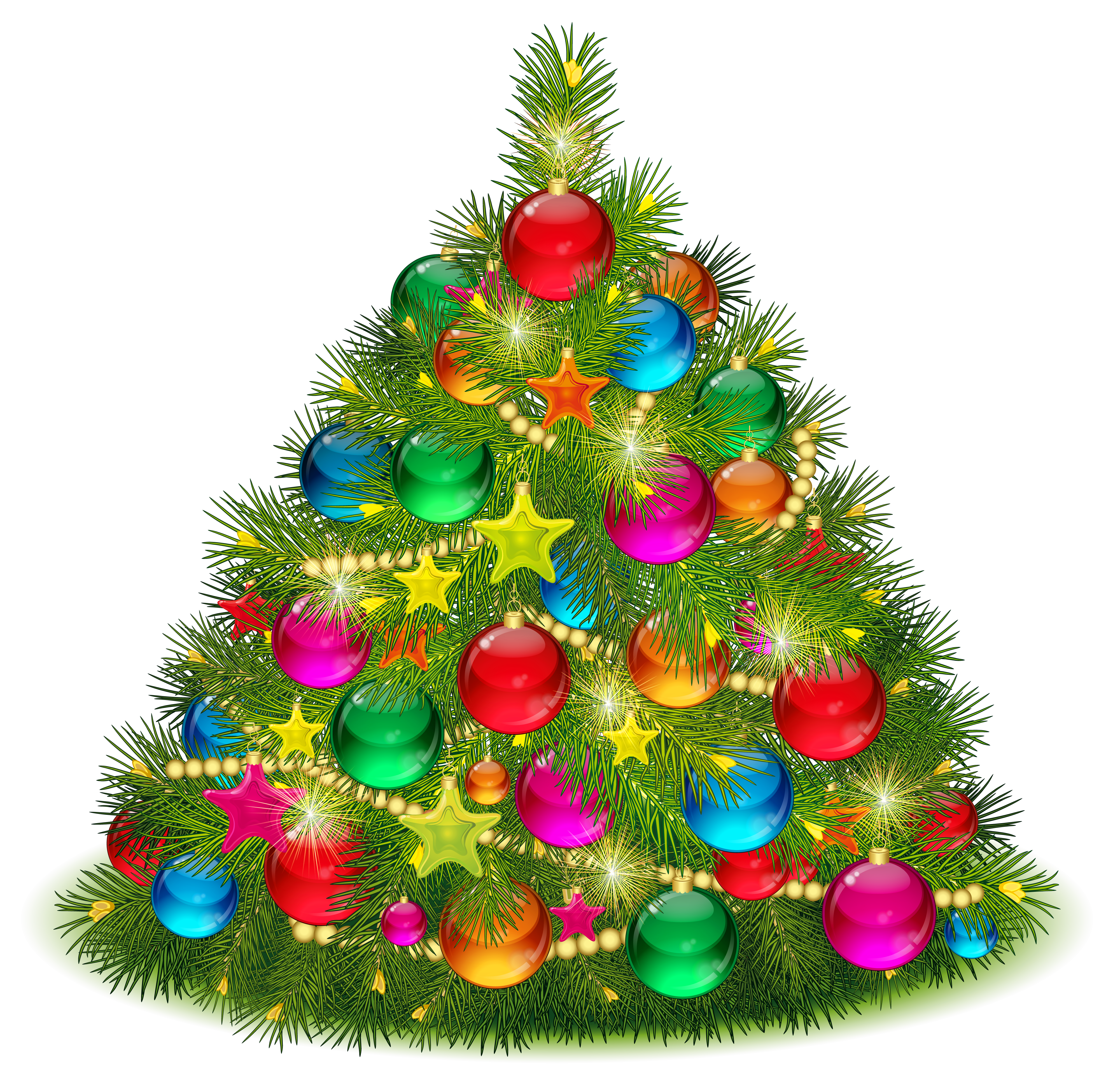 Large Transparent Decorated Christmas Tree PNG Clipart | Gallery ...