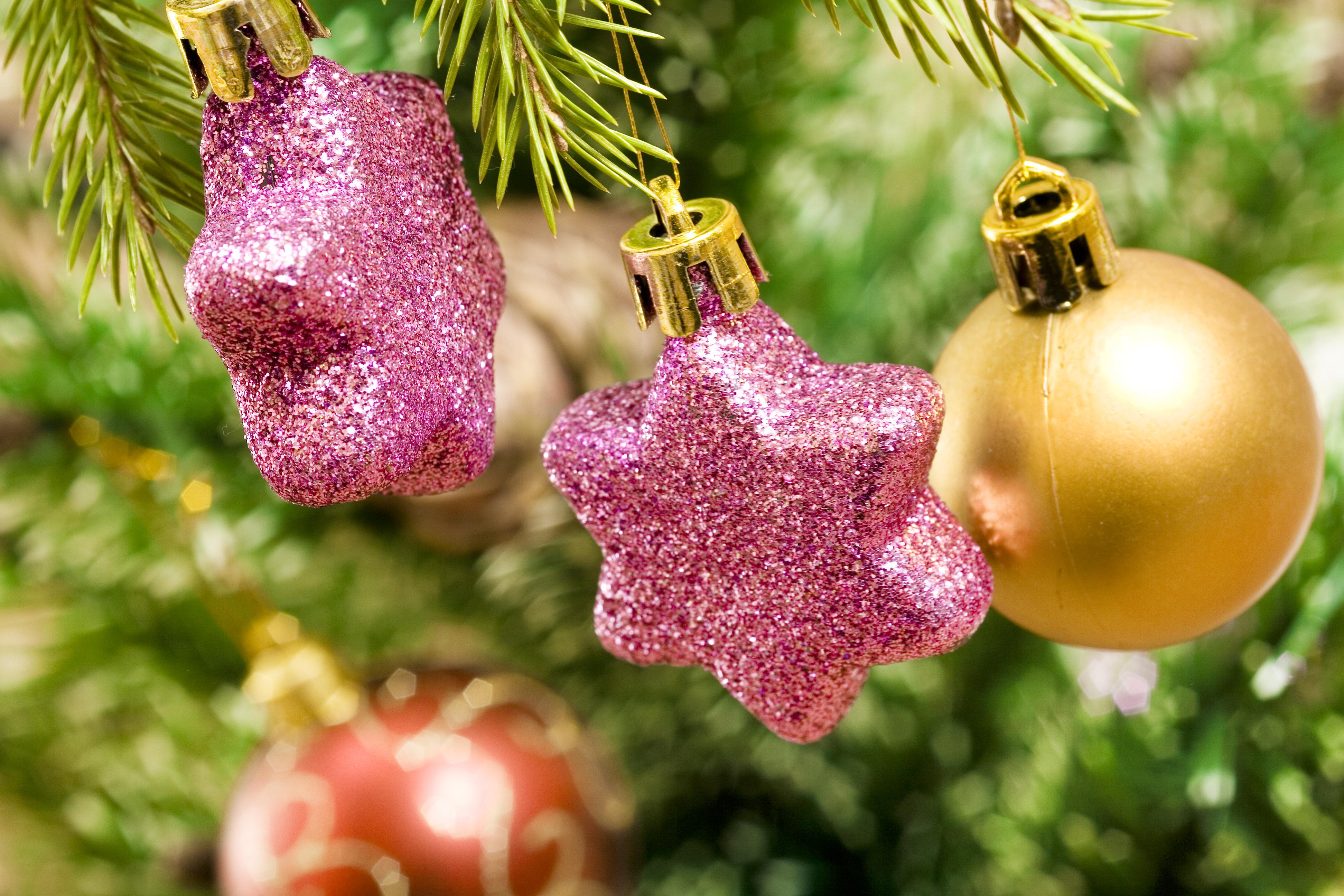 Christmas tree bauble decoration photo