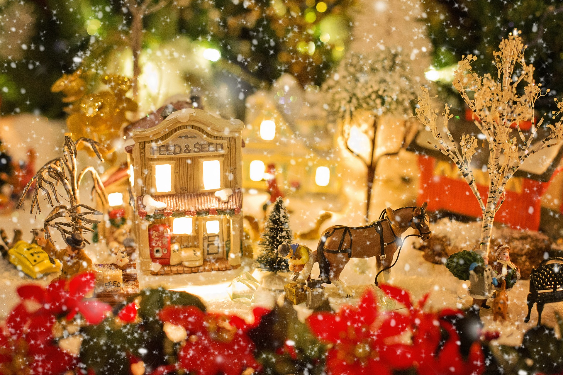 Christmas Village, Village, Winter, Object, Model, HQ Photo