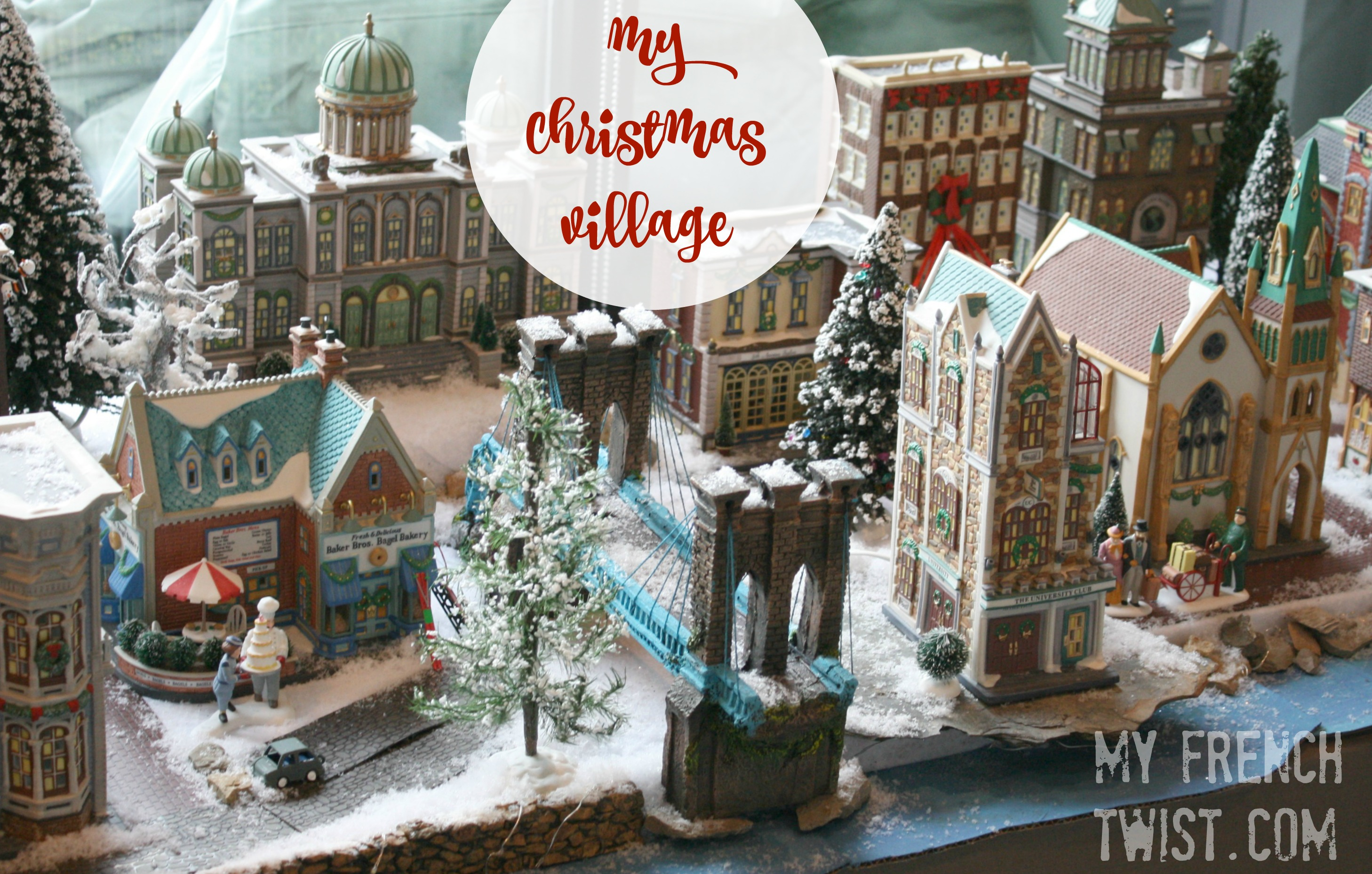 setting up a realistic christmas village - My French Twist