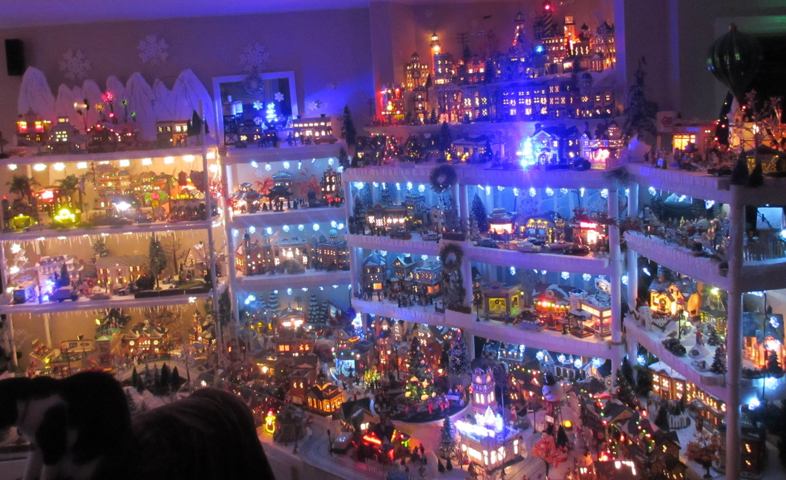 Kathy's 2013 Christmas Village Very Detailed A Must See - YouTube