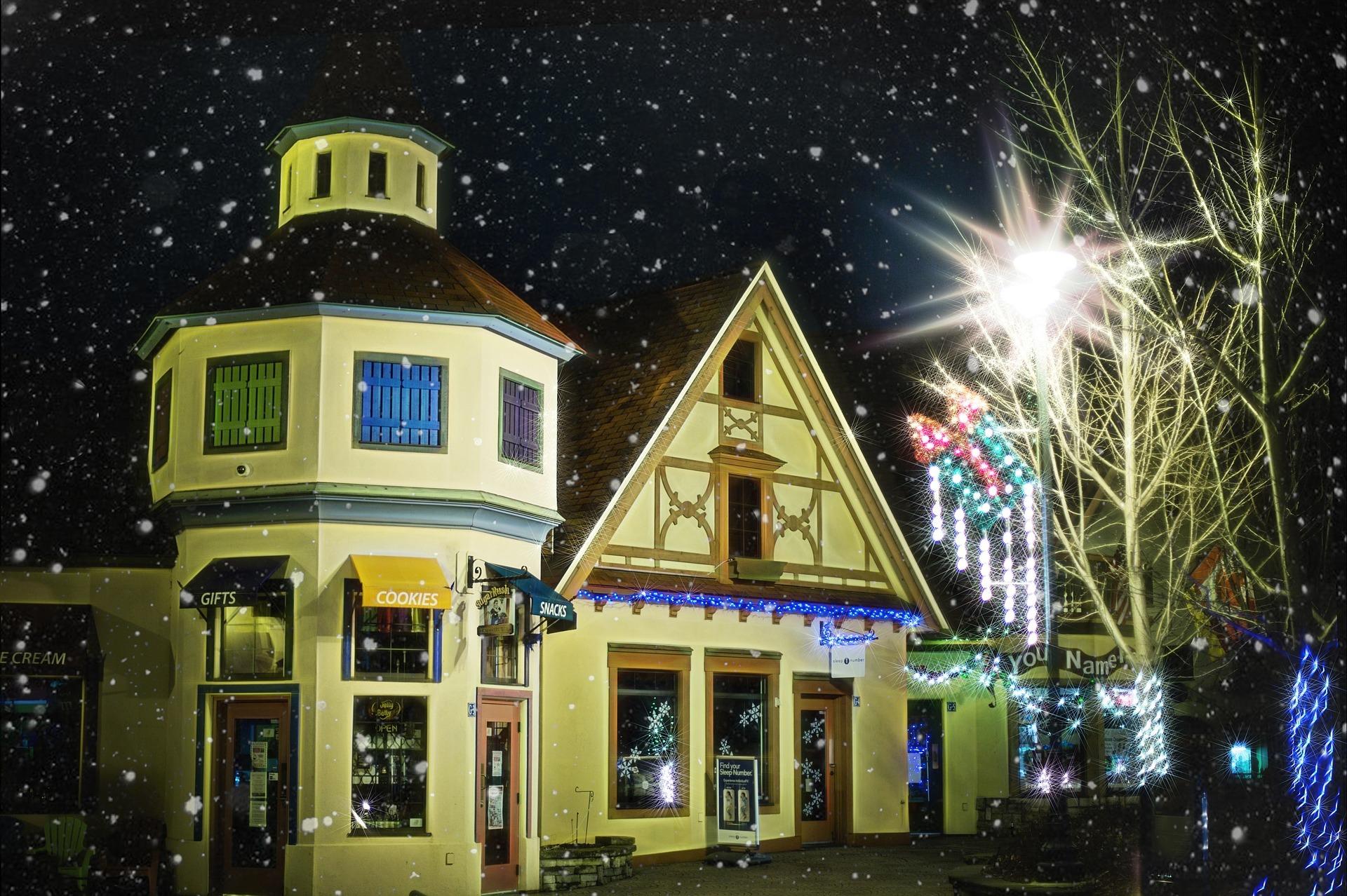 Christmas village photo
