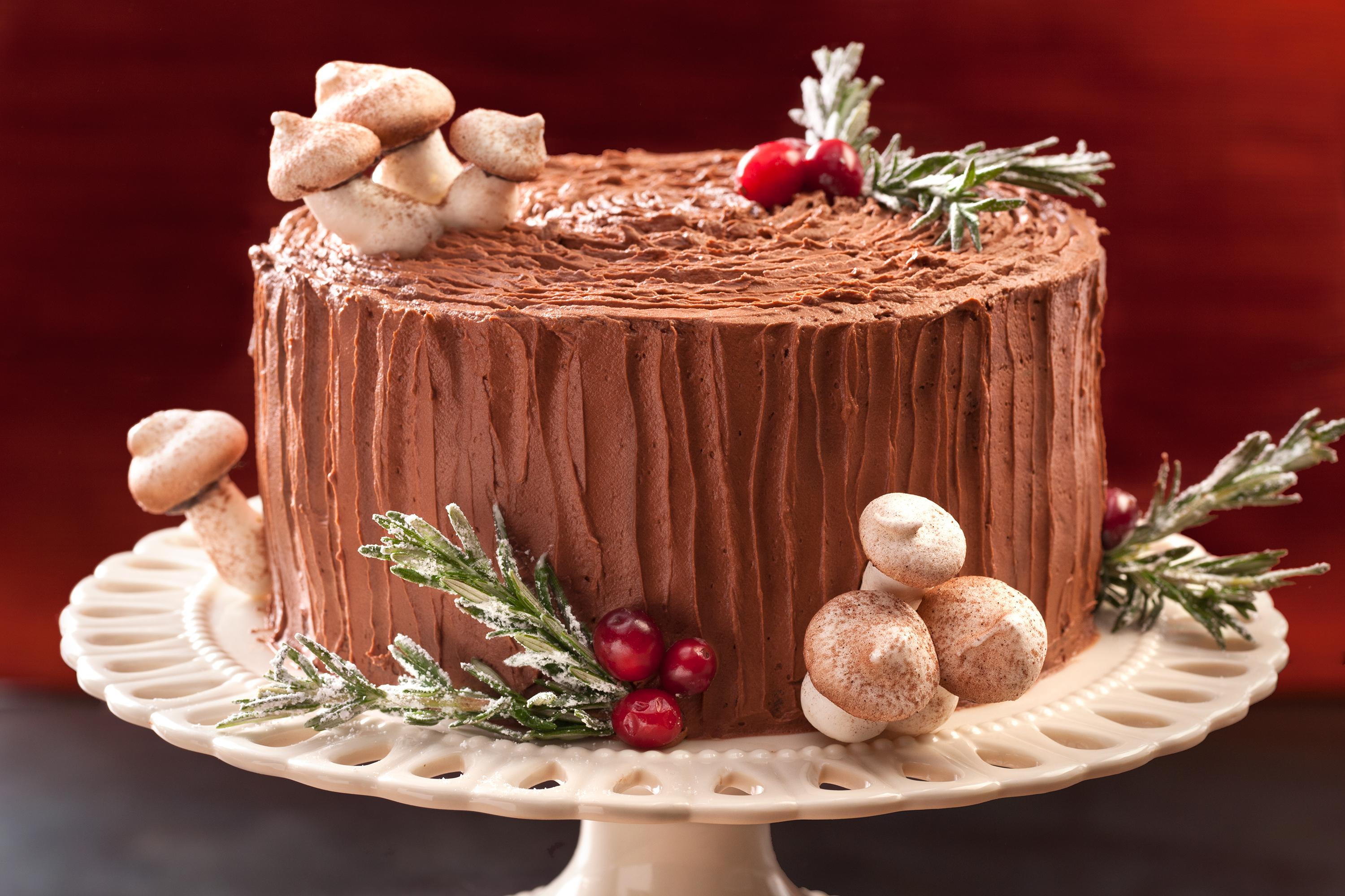 Christmas yule cake photo