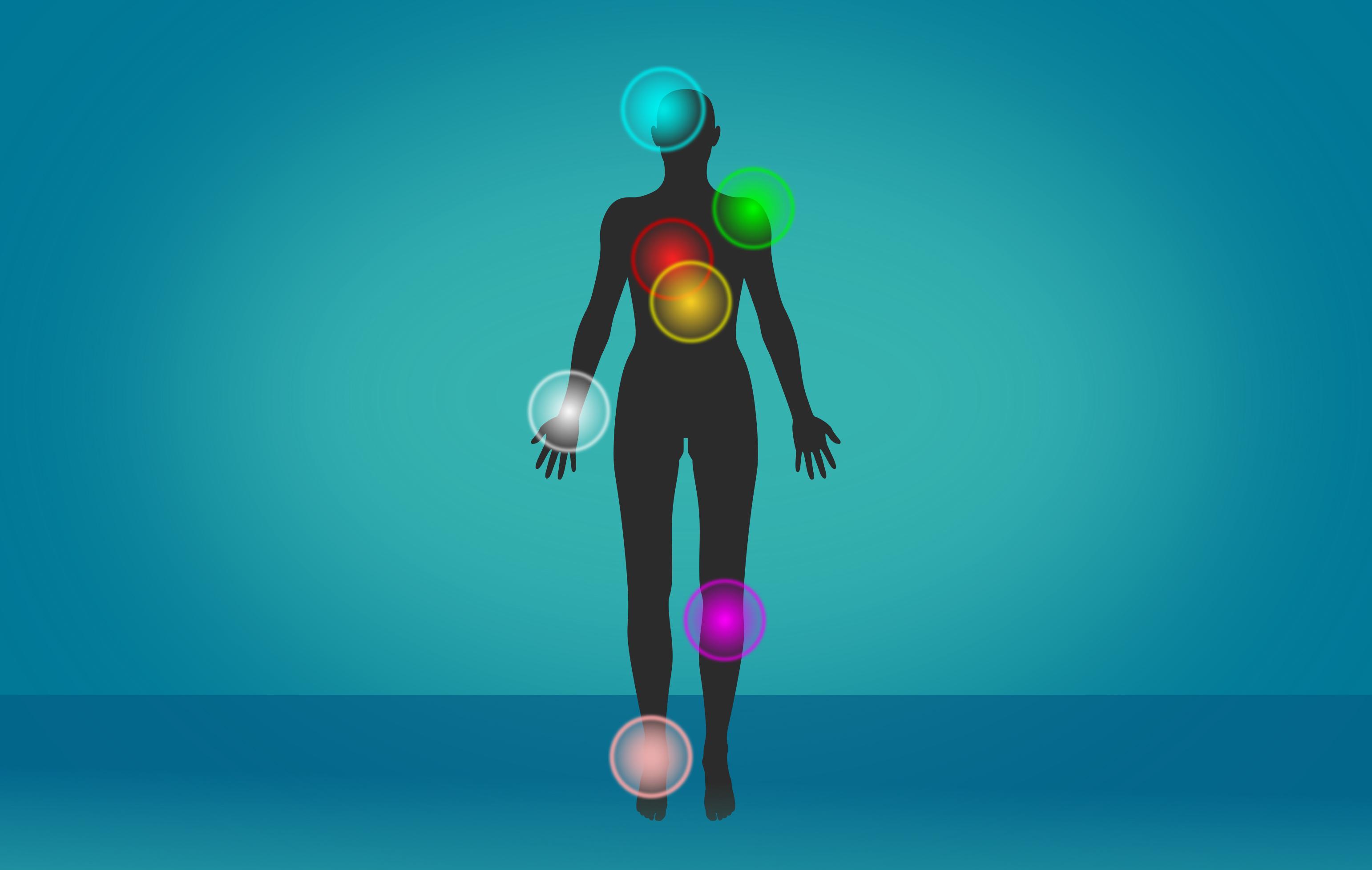 Chronic pain points - painful areas - illustration photo