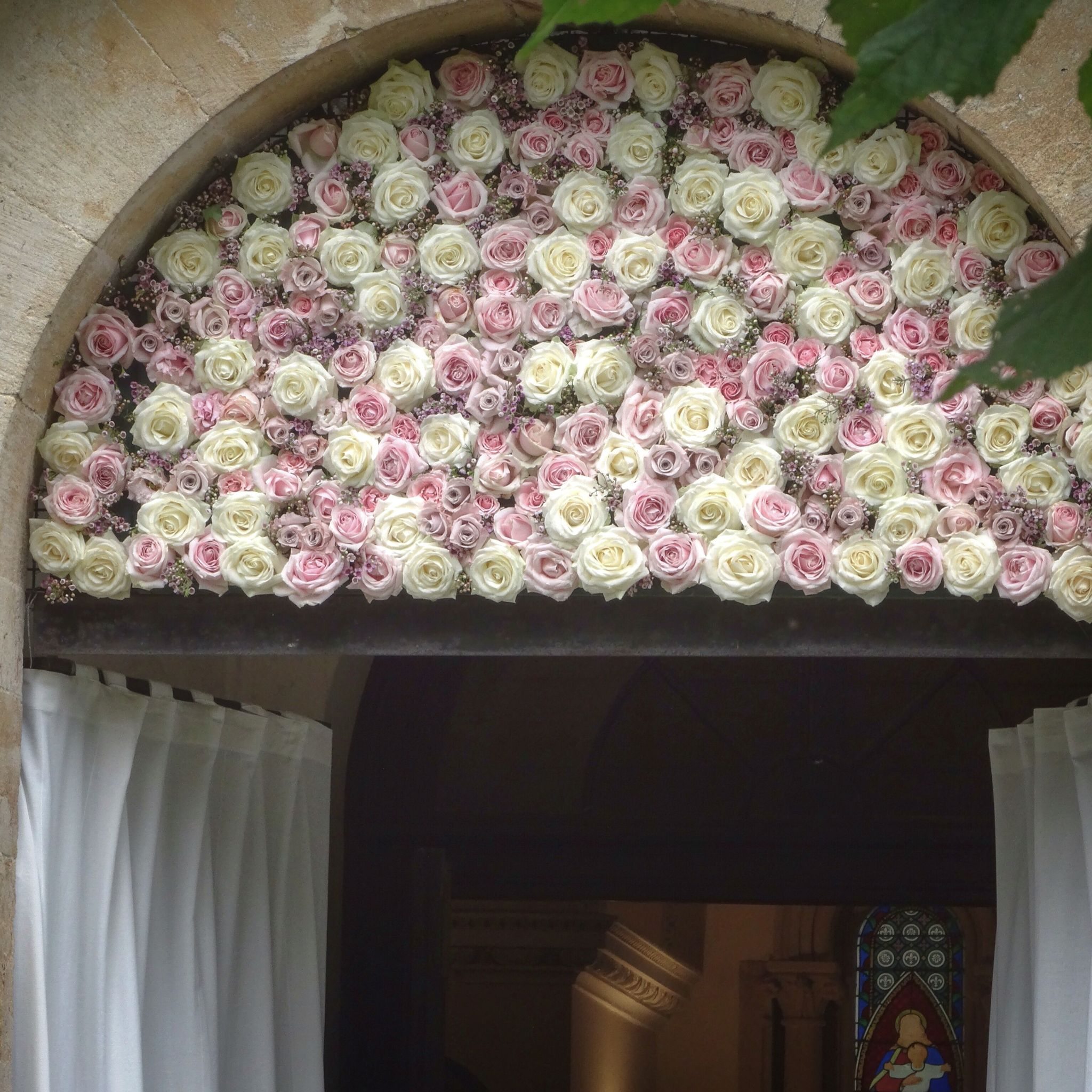 Church arch flowers, archway flowers, church flowers, flowers over ...