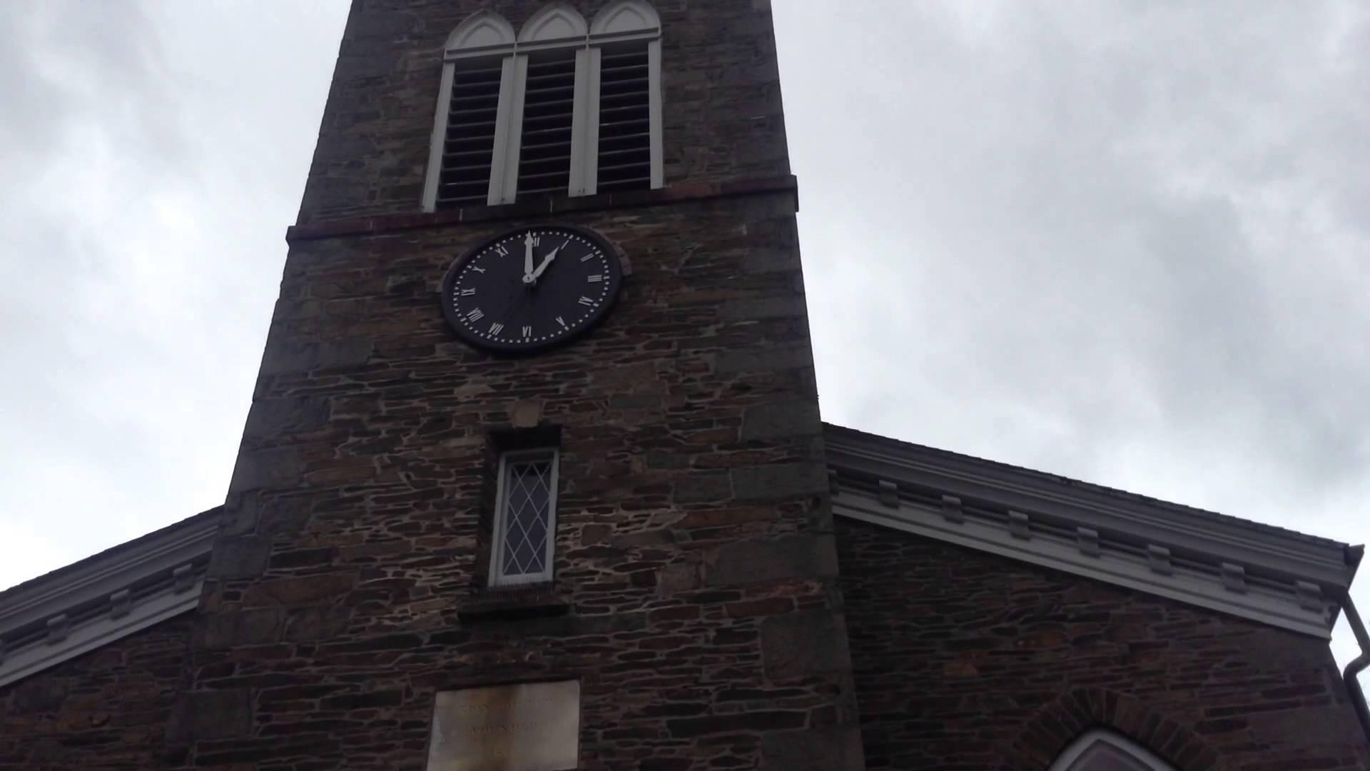 Church clock tower photo