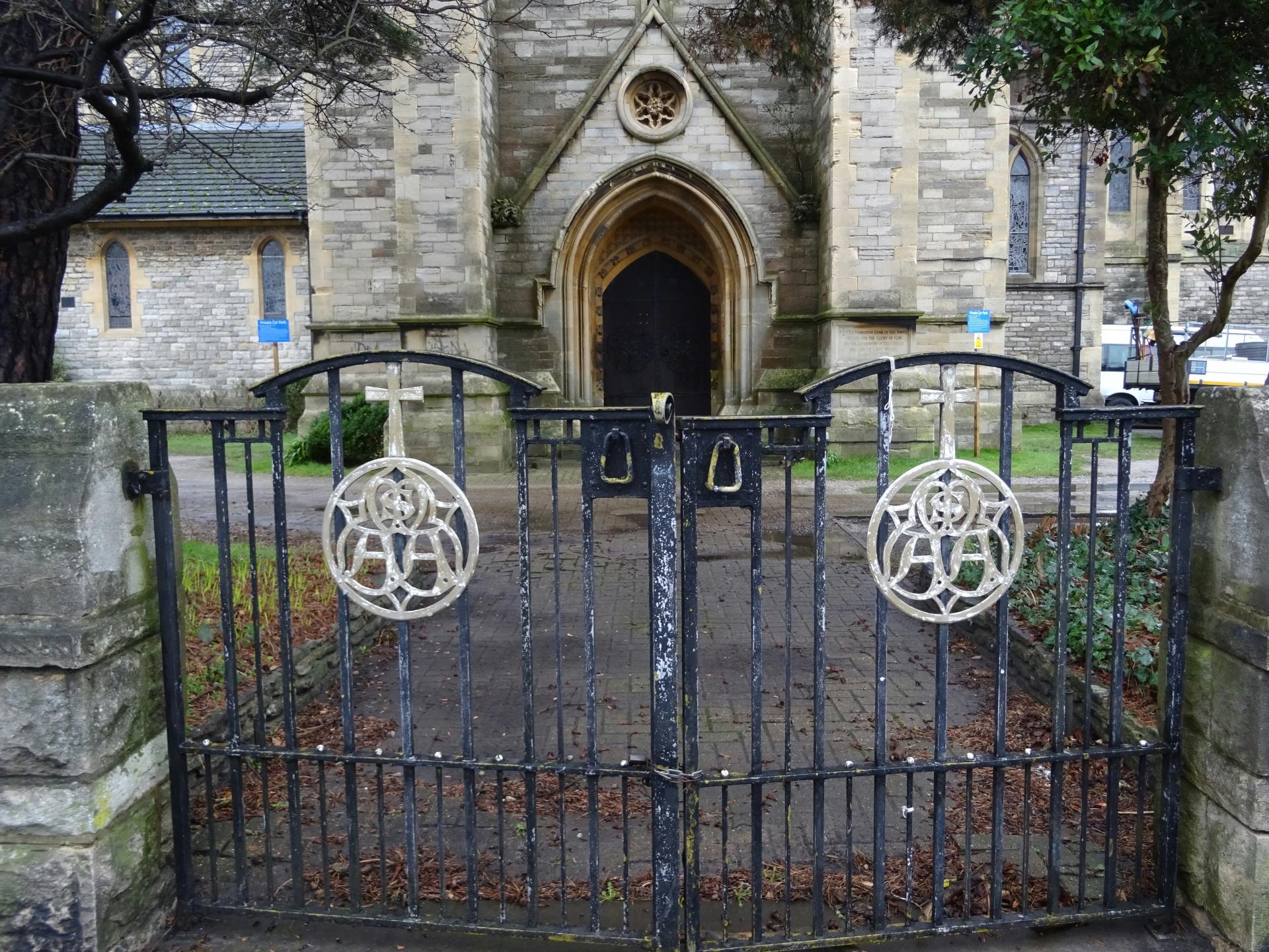 Church Gates Leading To Church Door Free Stock Photo - Public Domain ...