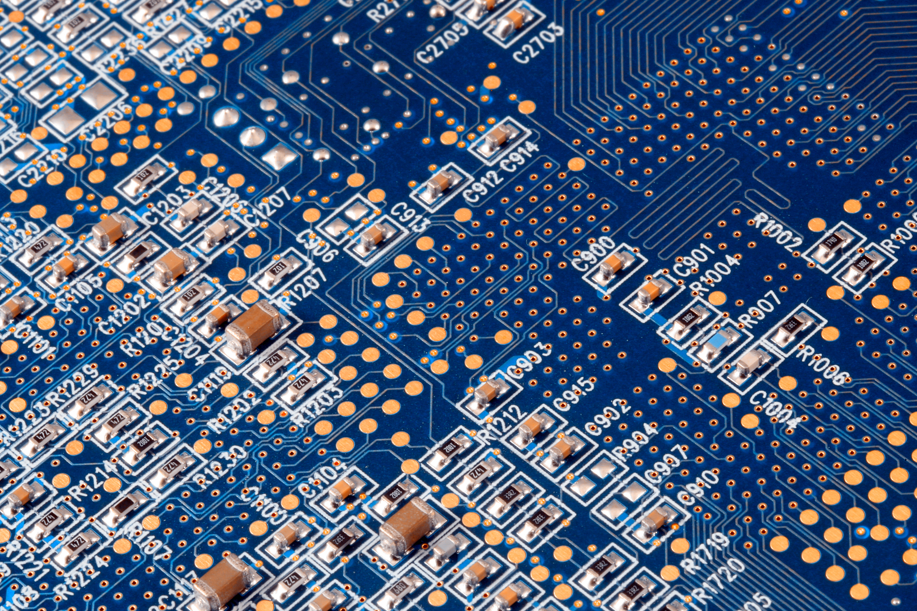 Circuit board close-up photo