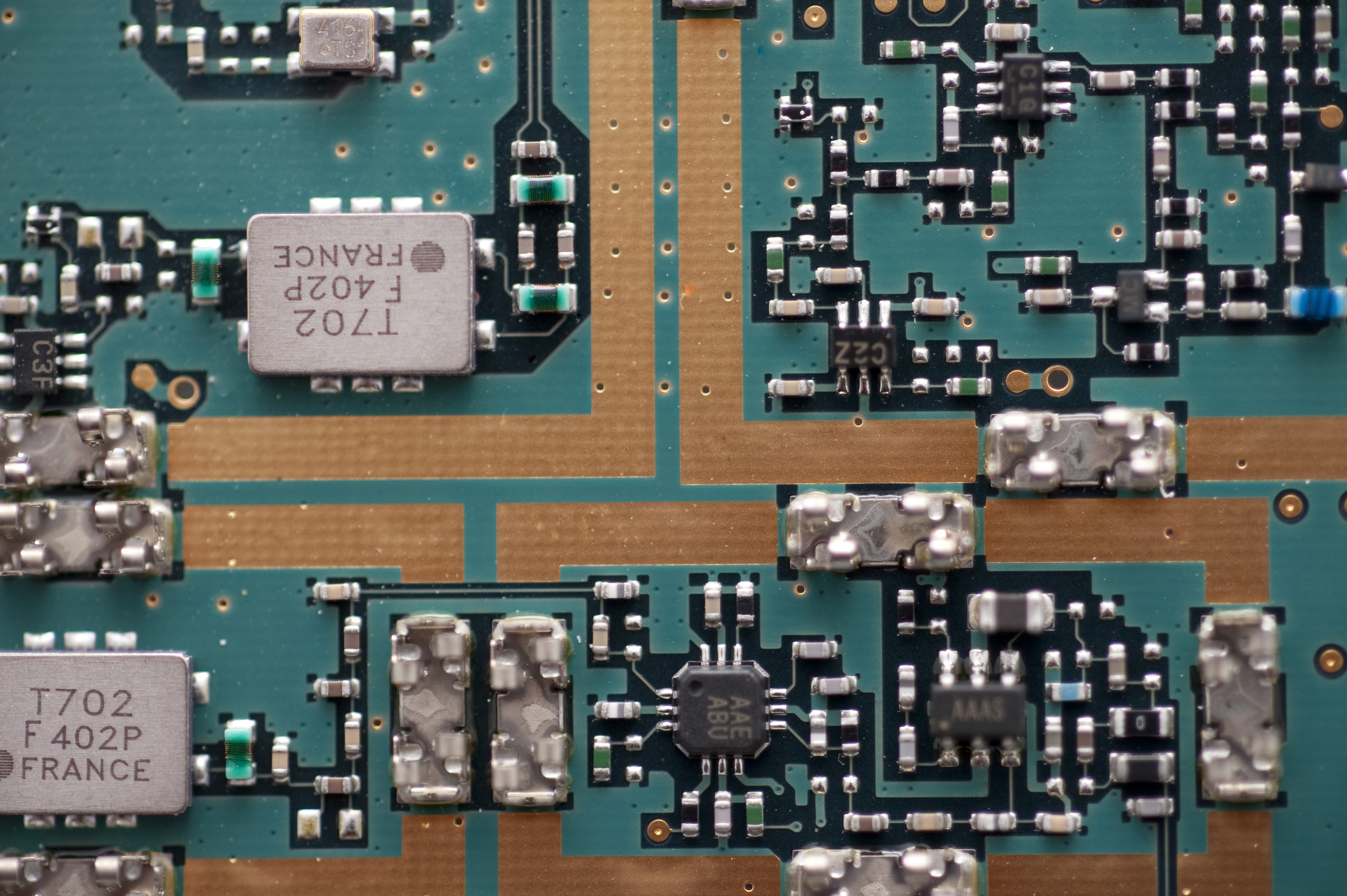 Free Stock Photo 12668 Close up on printed circuit board ...