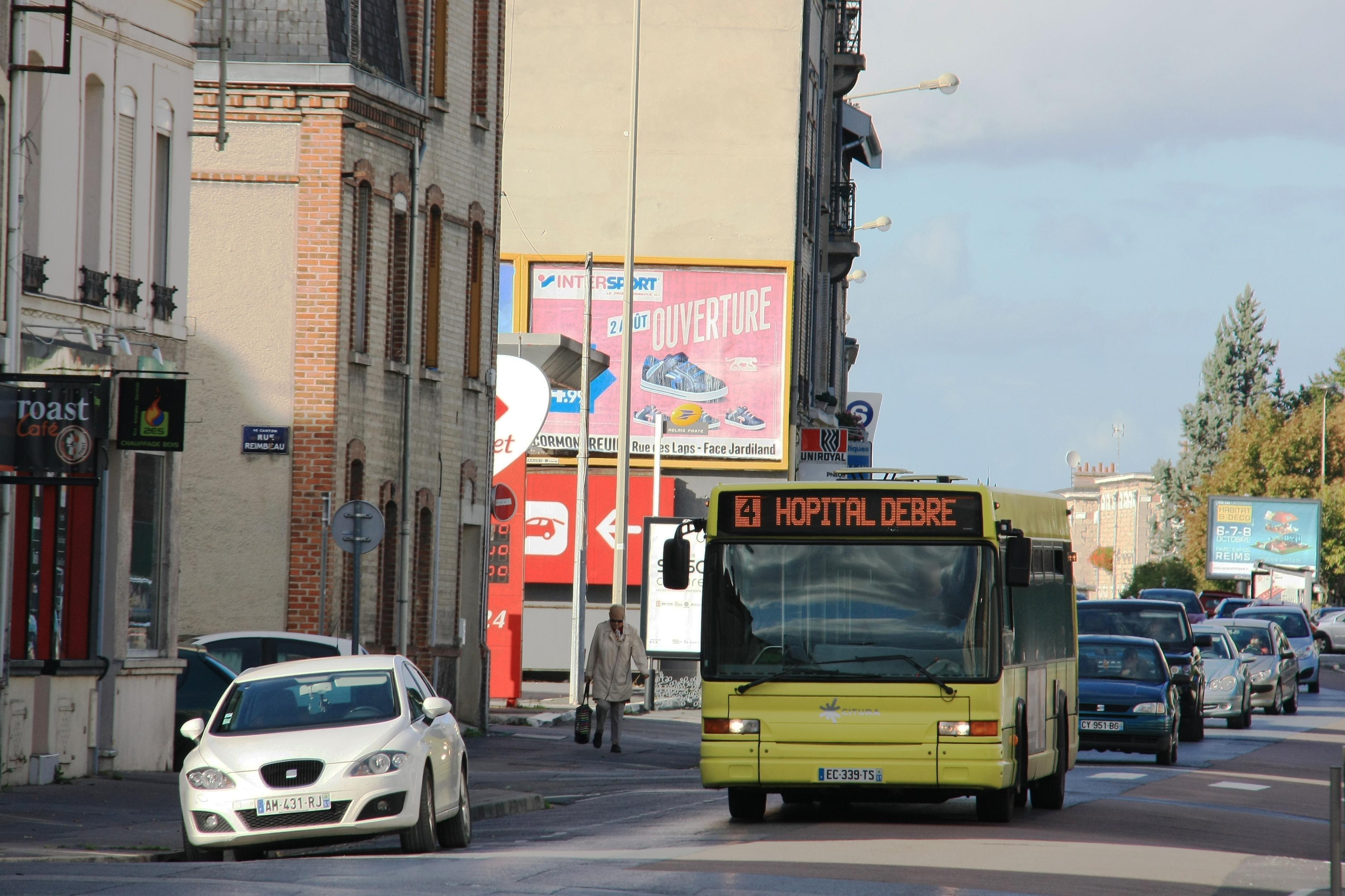 CITURA - Heuliez Bus GX317 n°258 - Ligne 4, Building, Car, Road, Sign, HQ Photo