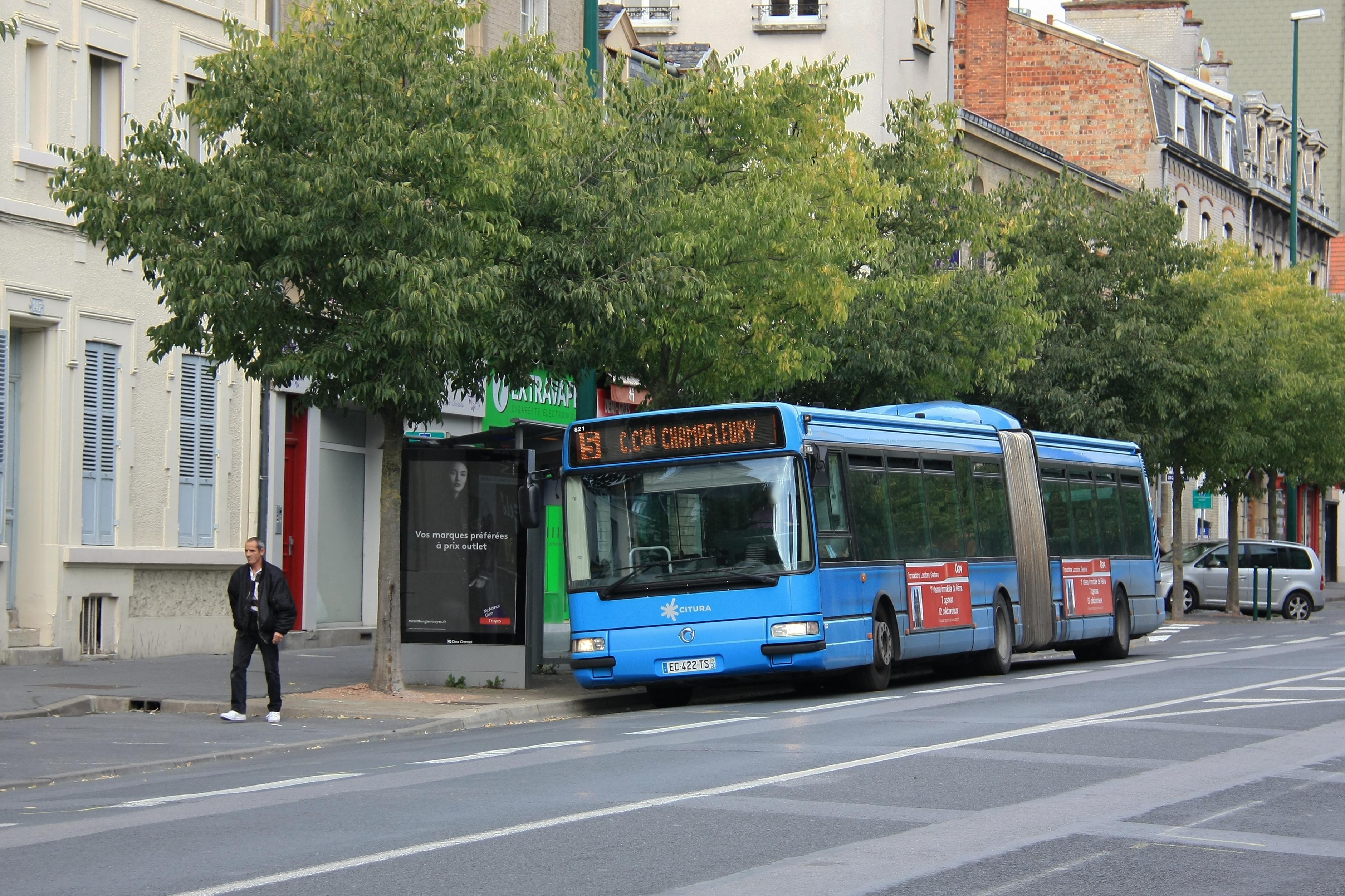 Citura - irisbus agora l n°821 - ligne 5 photo