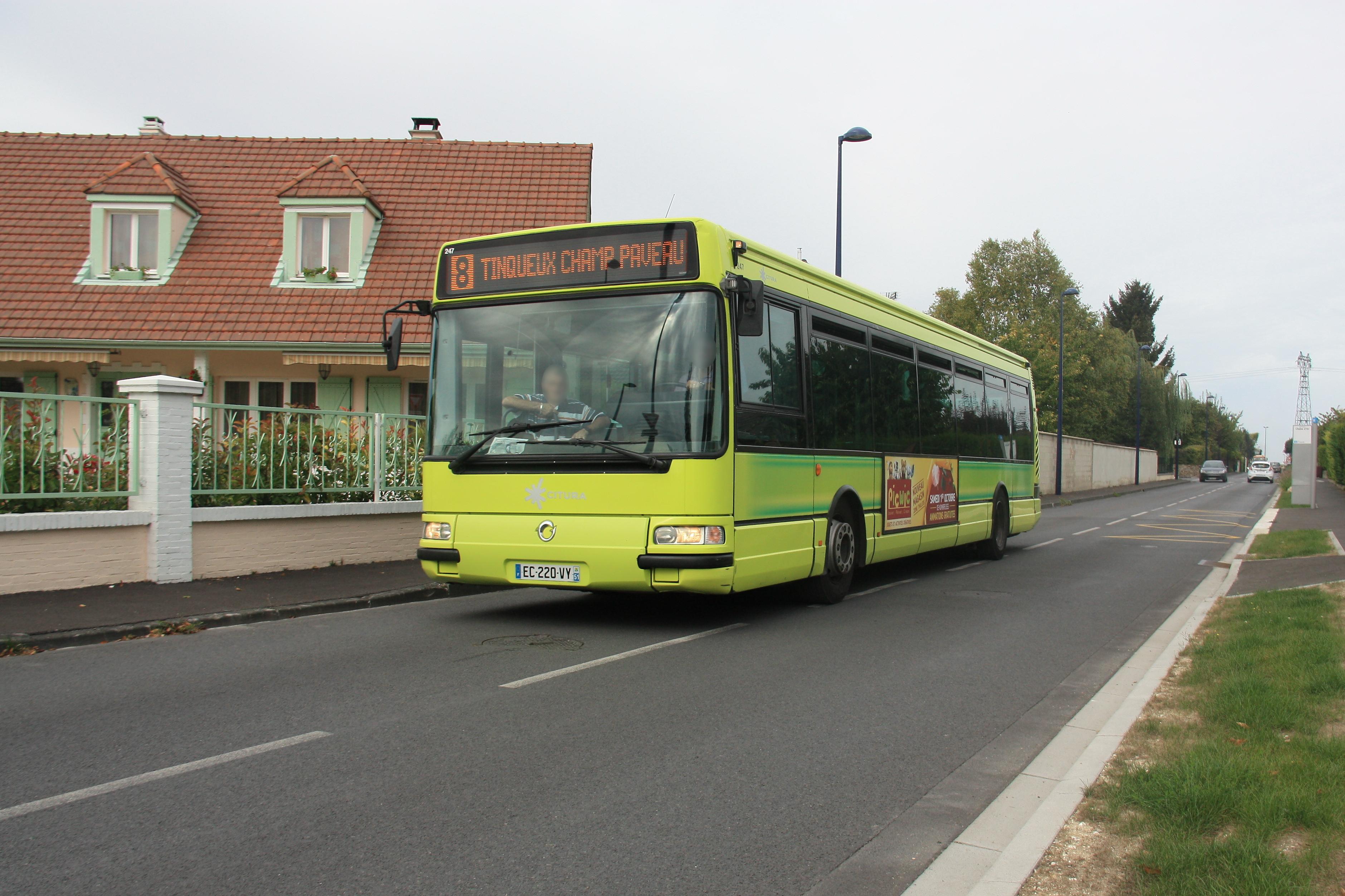 Citura - irisbus agora s n°247 - ligne 8 photo