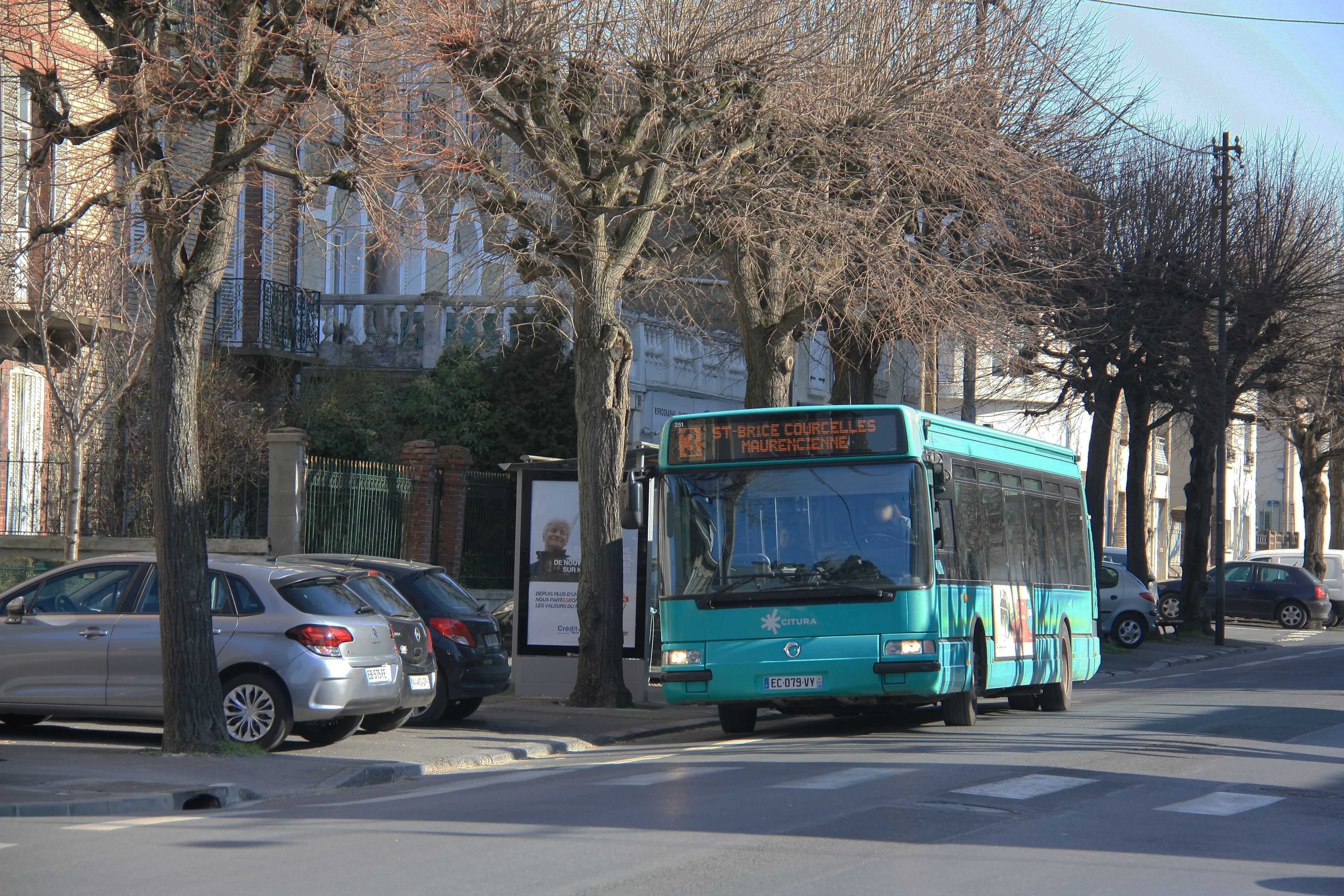CITURA - Irisbus Agora S n°251 - Ligne 3, Tree, Road, Car, Building, HQ Photo