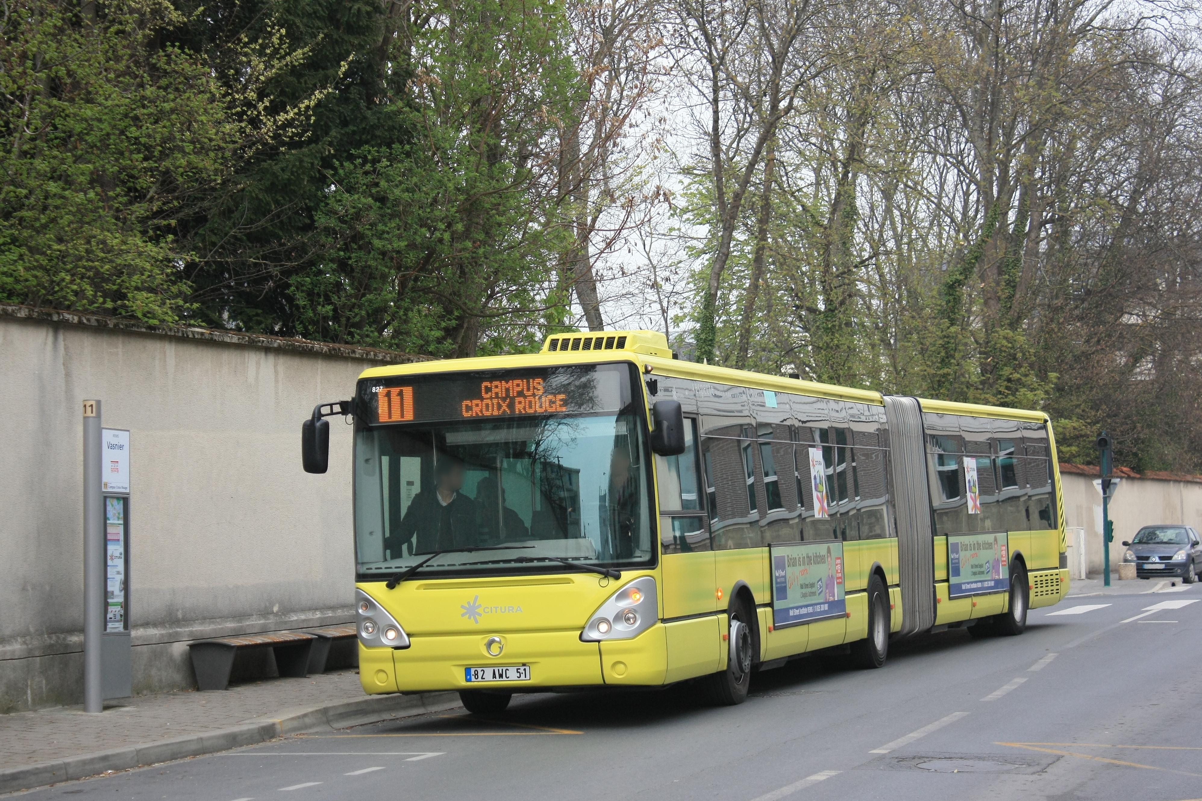 Citura - irisbus citelis 18 n°827 - ligne 11 photo