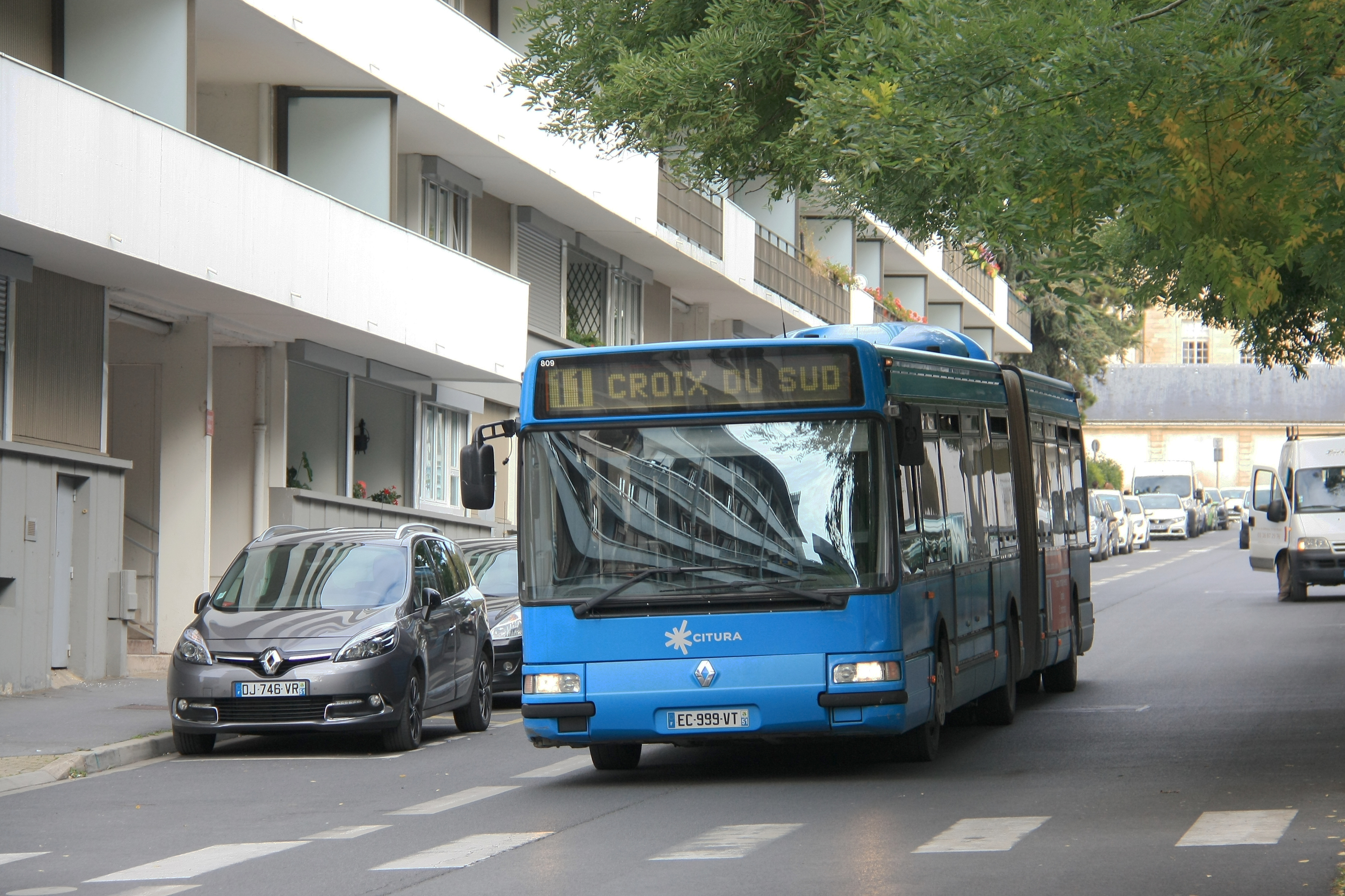 Free photo: CITURA - Renault Agora L n°809 - Ligne 11 - Windshield