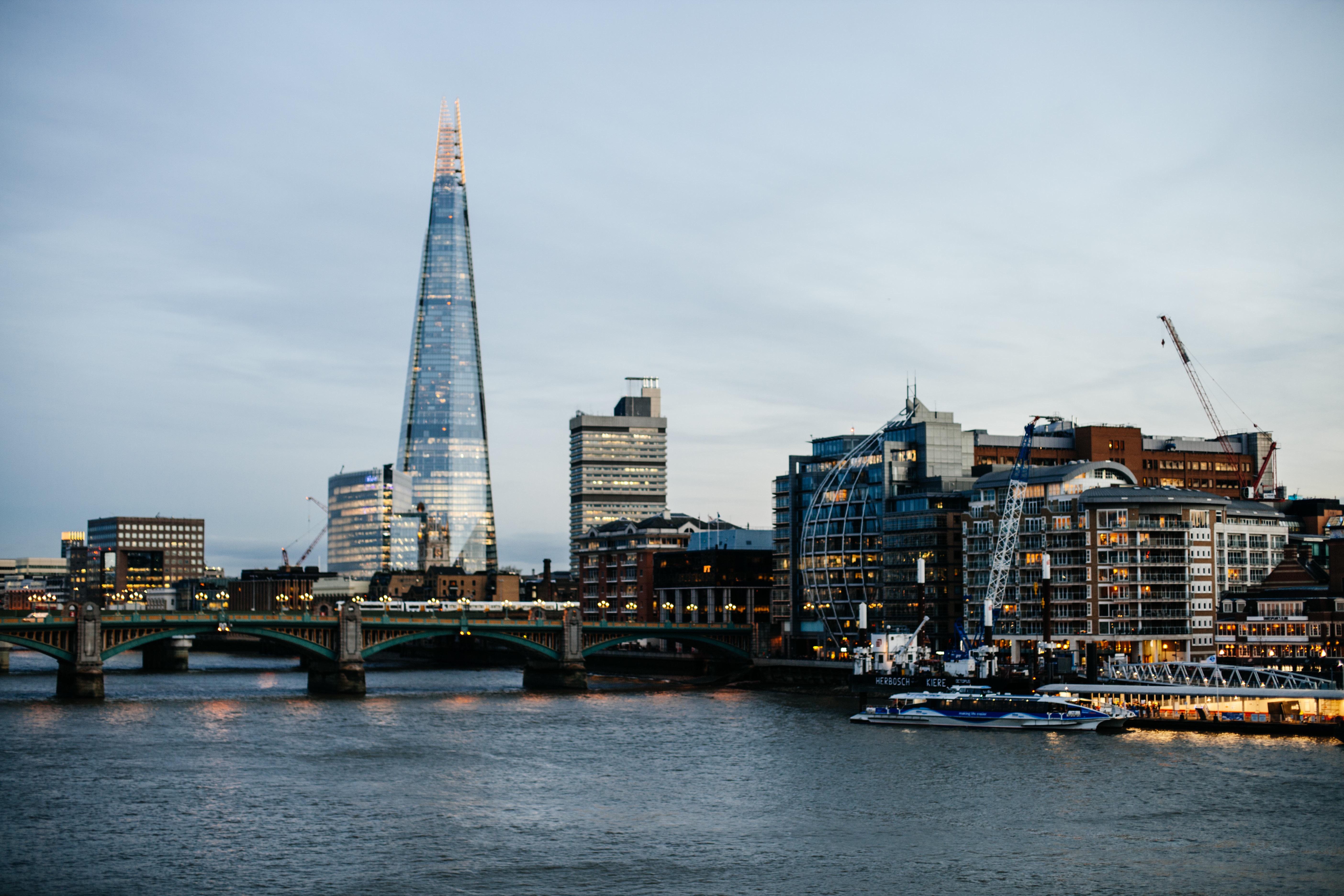 City, Blue, Building, Construction, Flow, HQ Photo