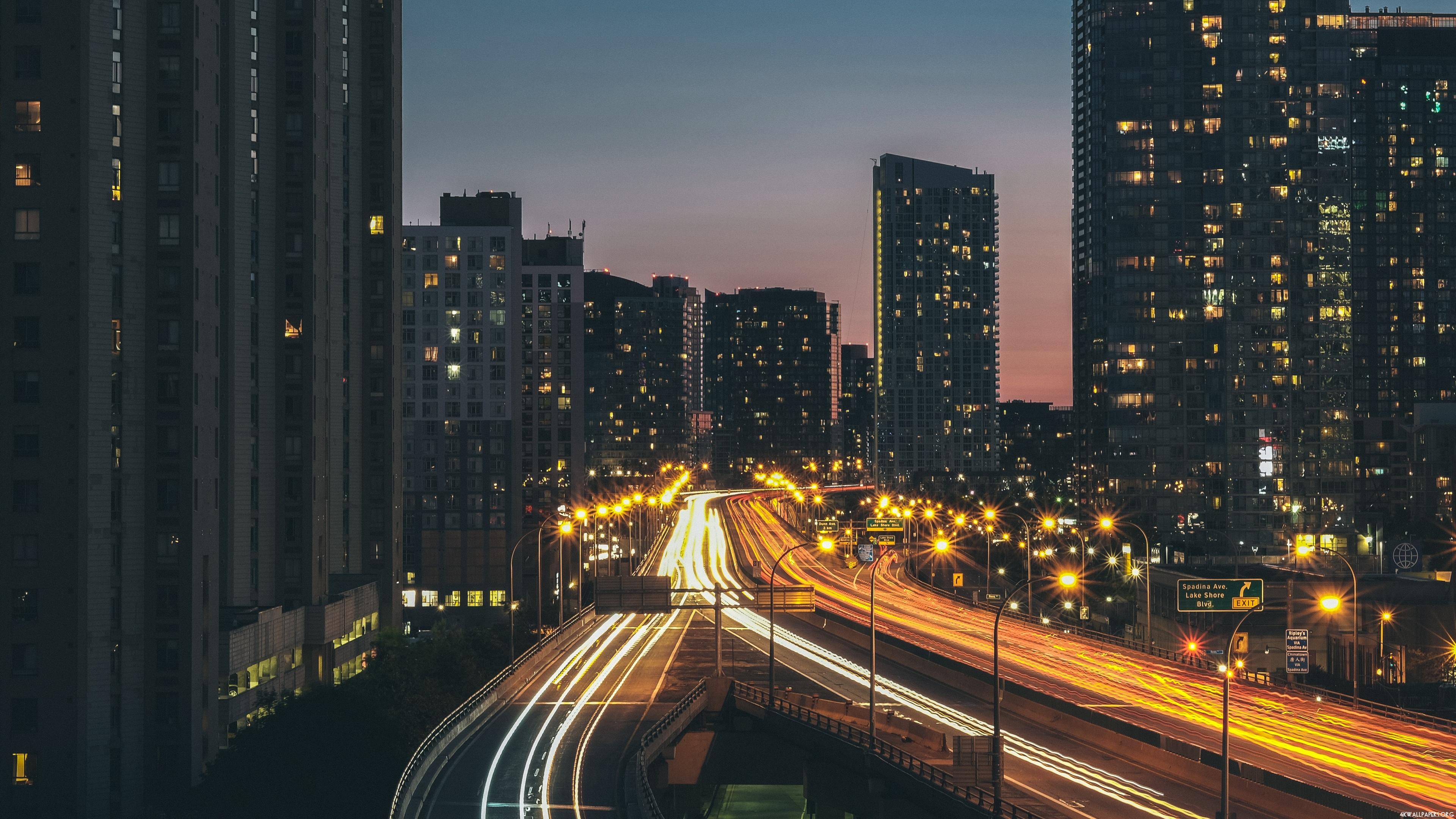 4K City At Night Wallpaper | ID: 263