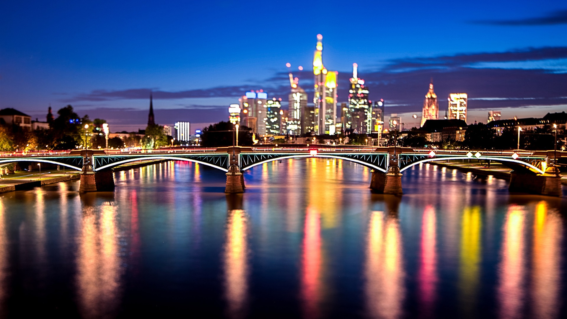 Germany City At Night HD Wallpaper, Background Images