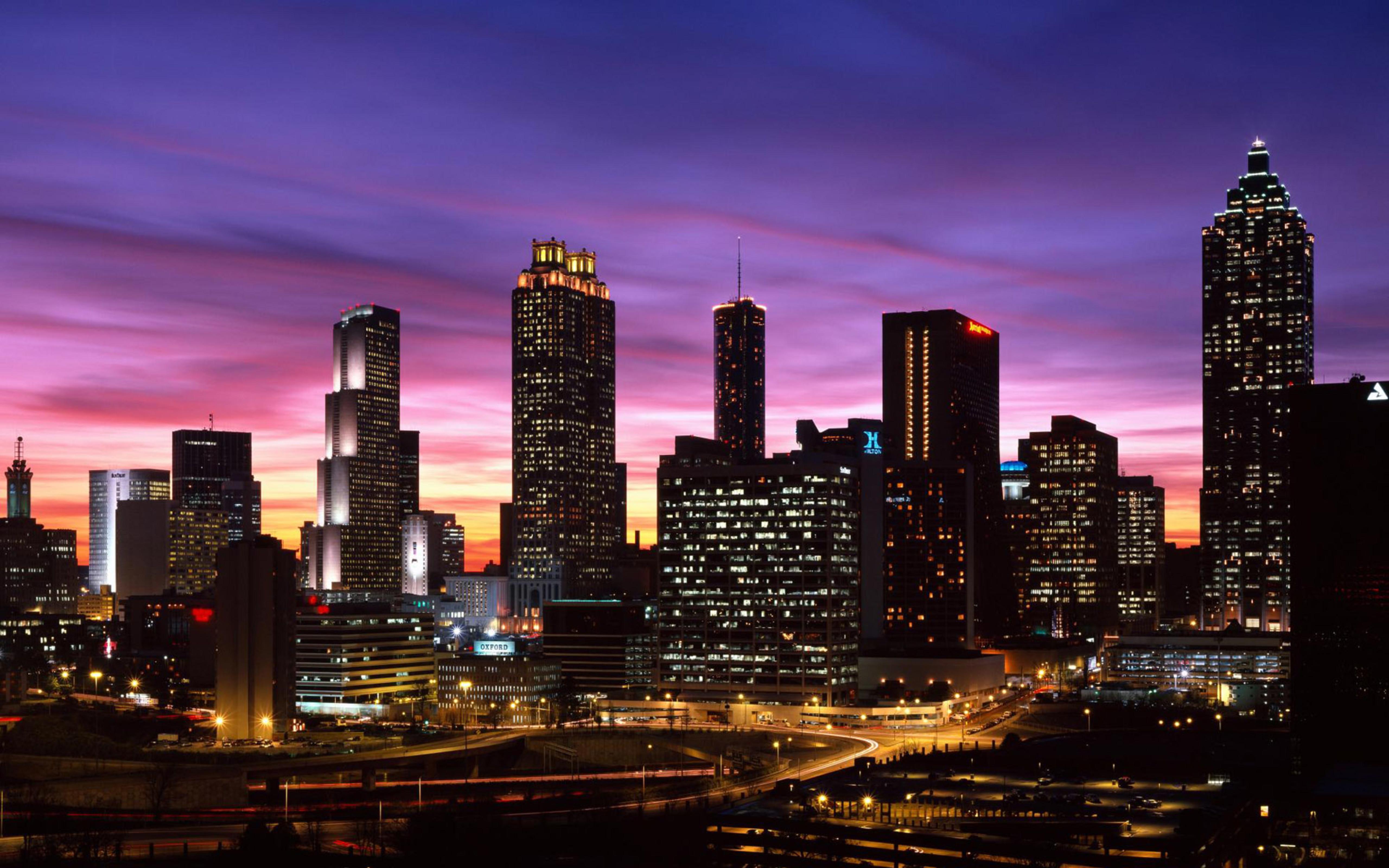 City at night - lights enerywhere