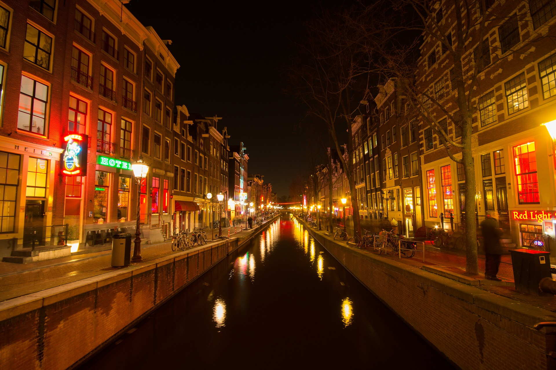 City at Night, Architecture, Building, Canal, City, HQ Photo