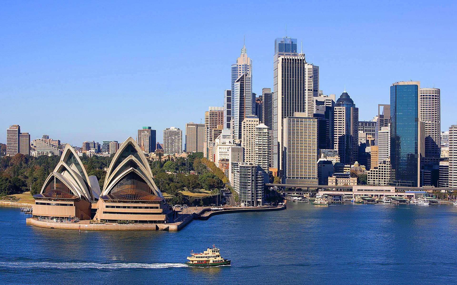 Sydney Australia city waterfront wallpaper | city wallpaper